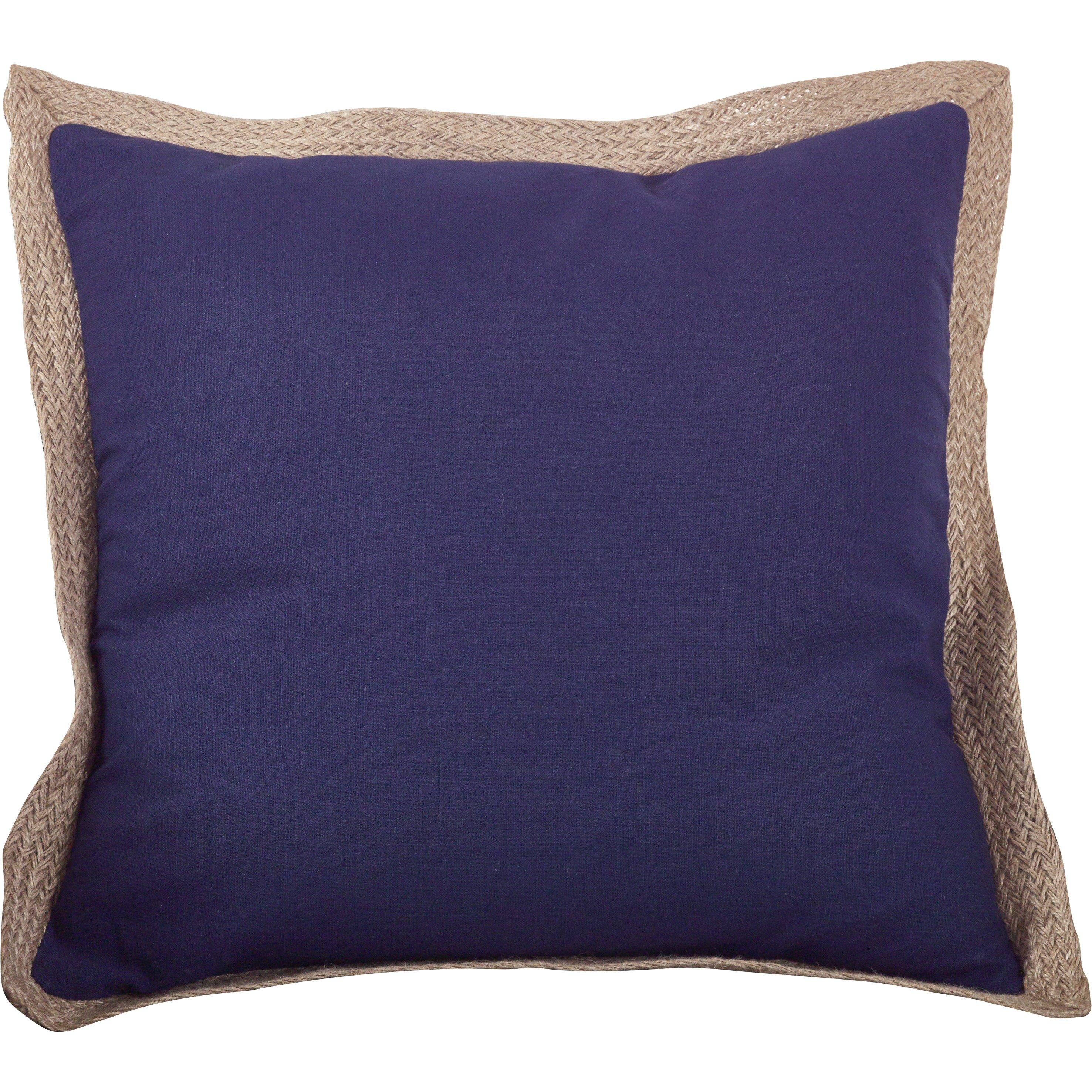 Classic Jute Trim Cotton Throw Pillow Wayfair