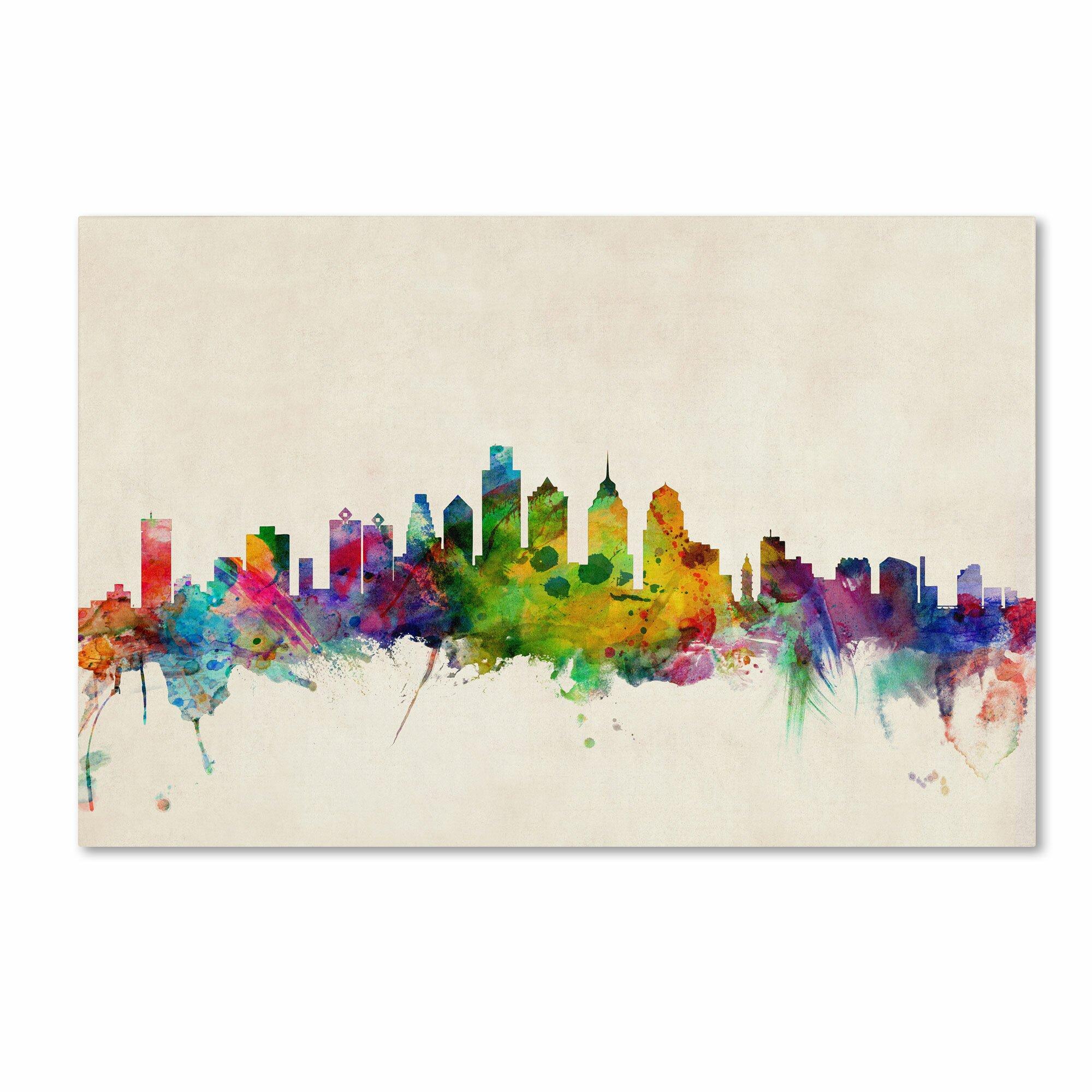 Michaels Carpet Blakeslee Pa Trademark Fine Art Michael Tompsett Philadelphia Pennsylvania Canvas