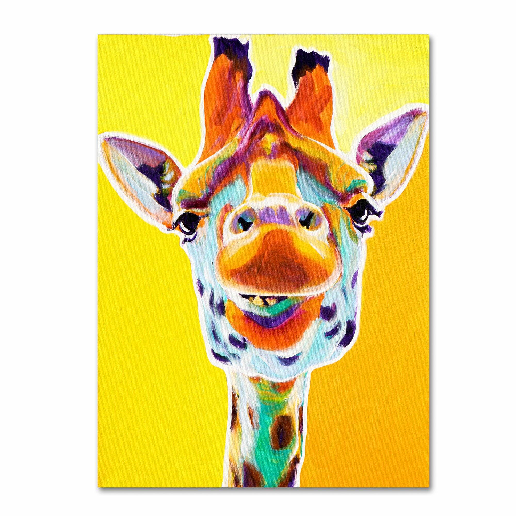 Trademark Art Quot Giraffe No 3 Quot By Dawgart Painting Print On