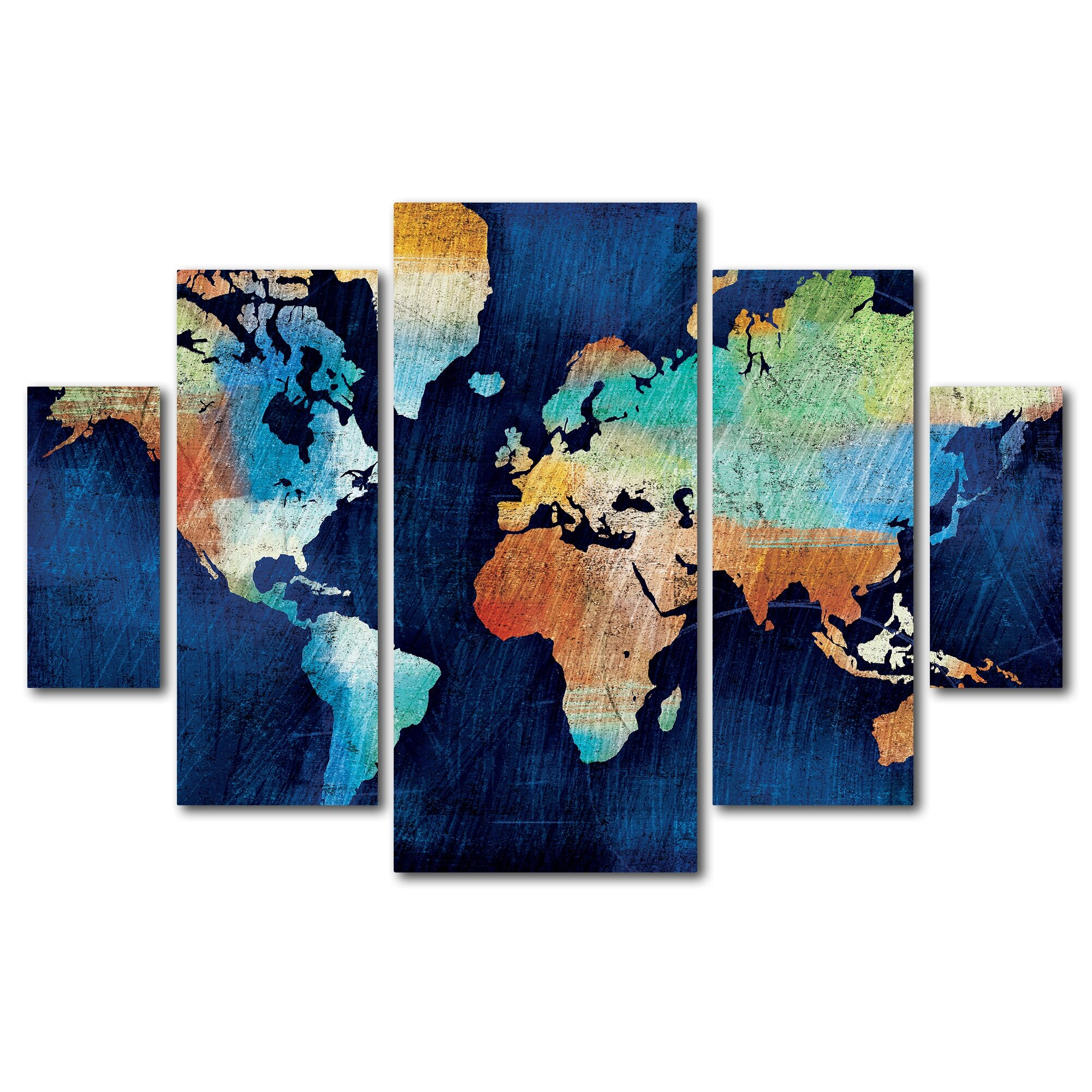 seasons change by michael mullan 5 piece painting print on wrapped canvas set wayfair. Black Bedroom Furniture Sets. Home Design Ideas