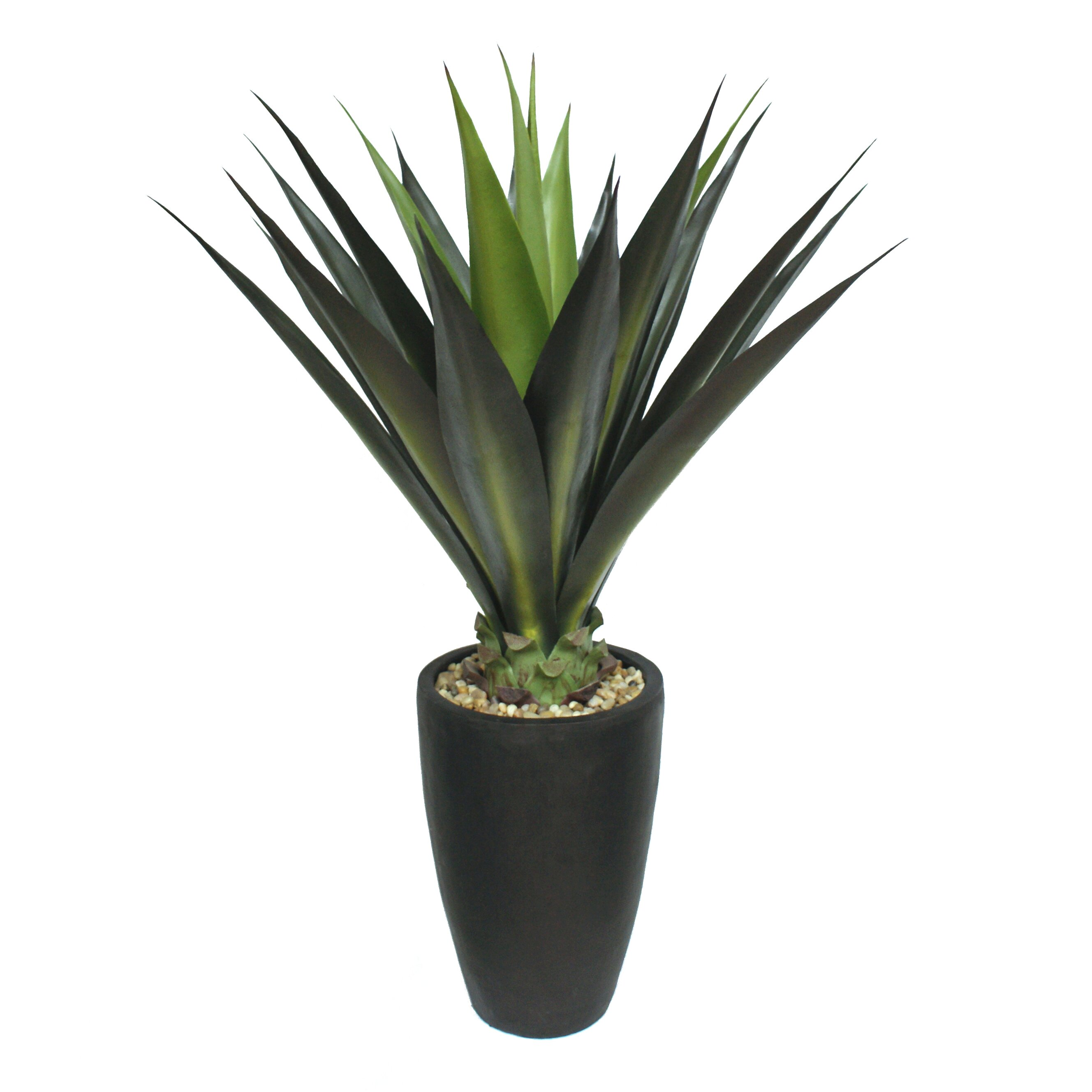 Laura ashley home tall high end giant aloe floor plant in for Plante a planter