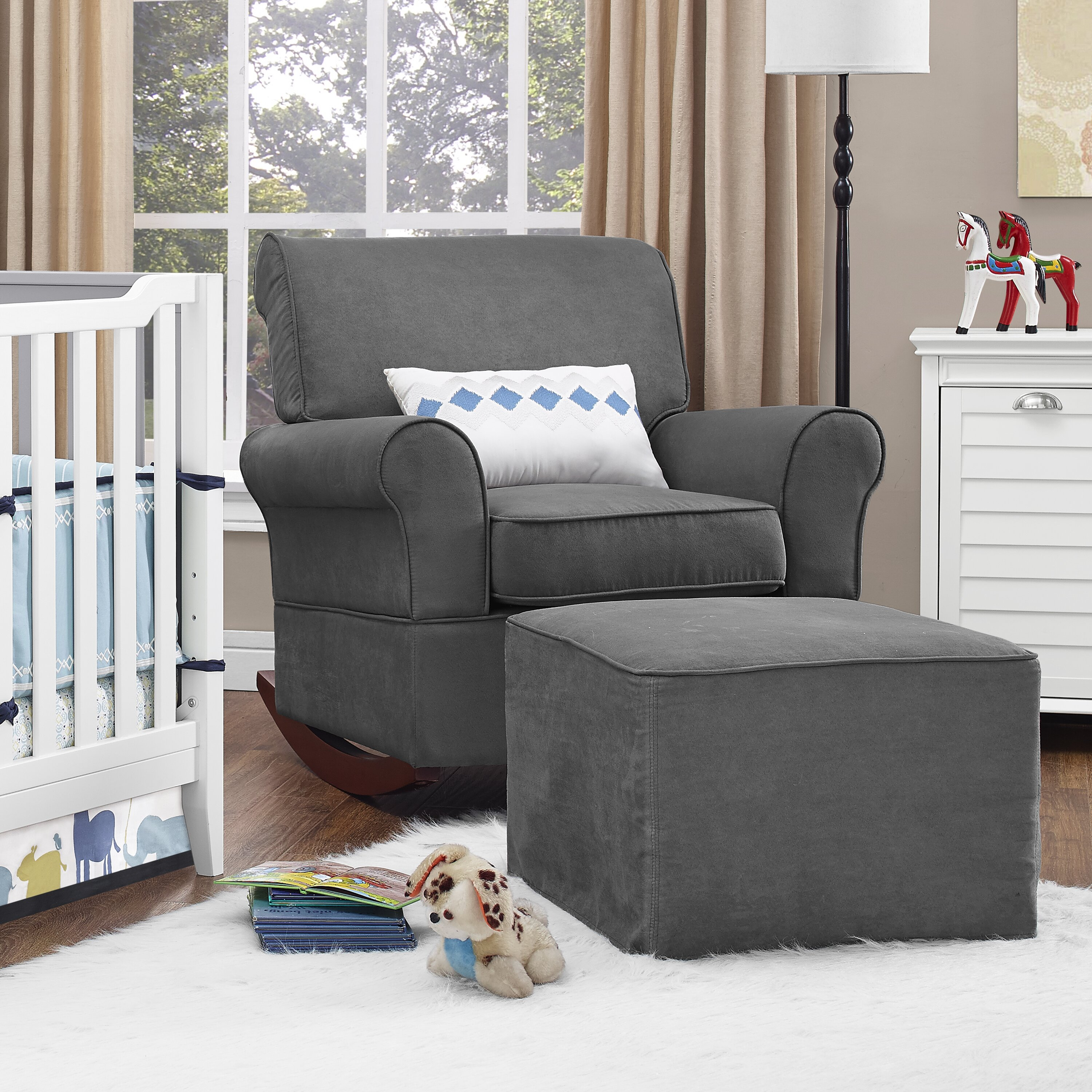 Dorel Living Baby Relax Mackenzie Rocker And Ottoman
