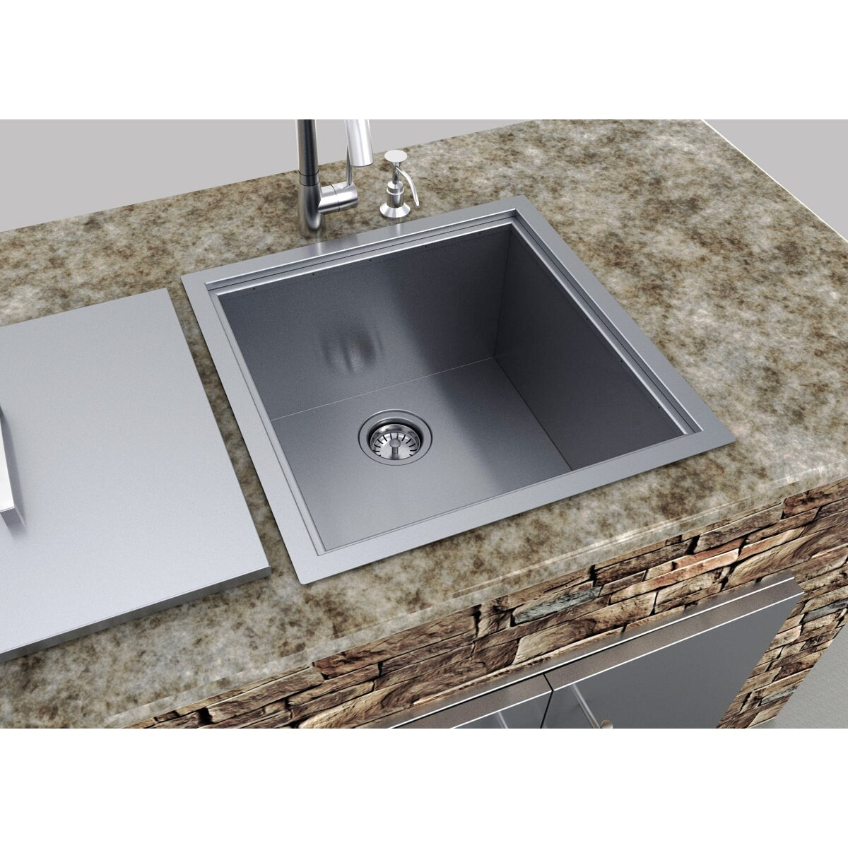 Outdoor Kitchen Over Under Basin Sink with Cover Wayfair : Outdoor Kitchen Over Under 20 X 12 Basin Sink W Cover B SK20 from www.wayfair.com size 1200 x 1200 jpeg 305kB
