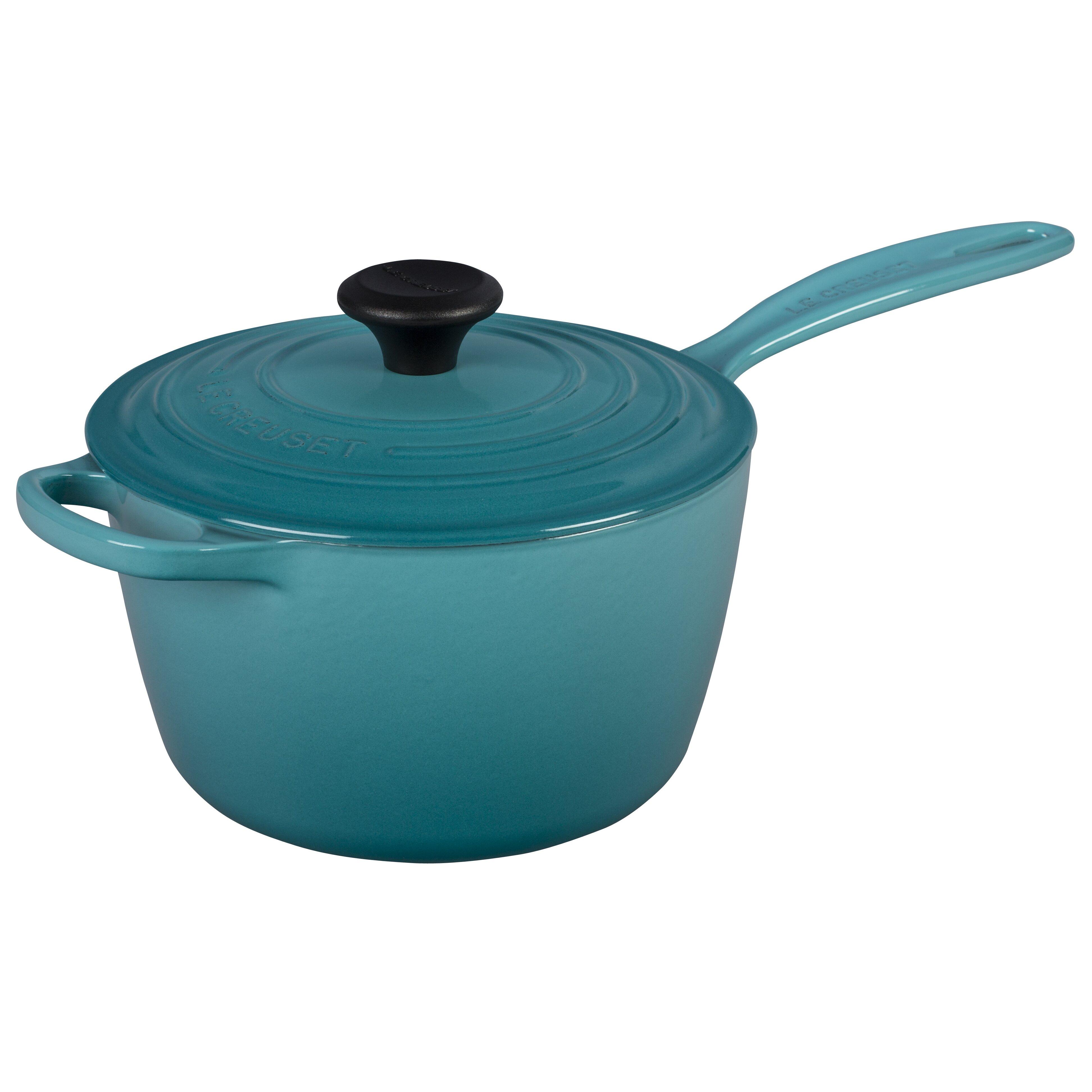 Le creuset cast iron precision pour saucepan with lid amp reviews