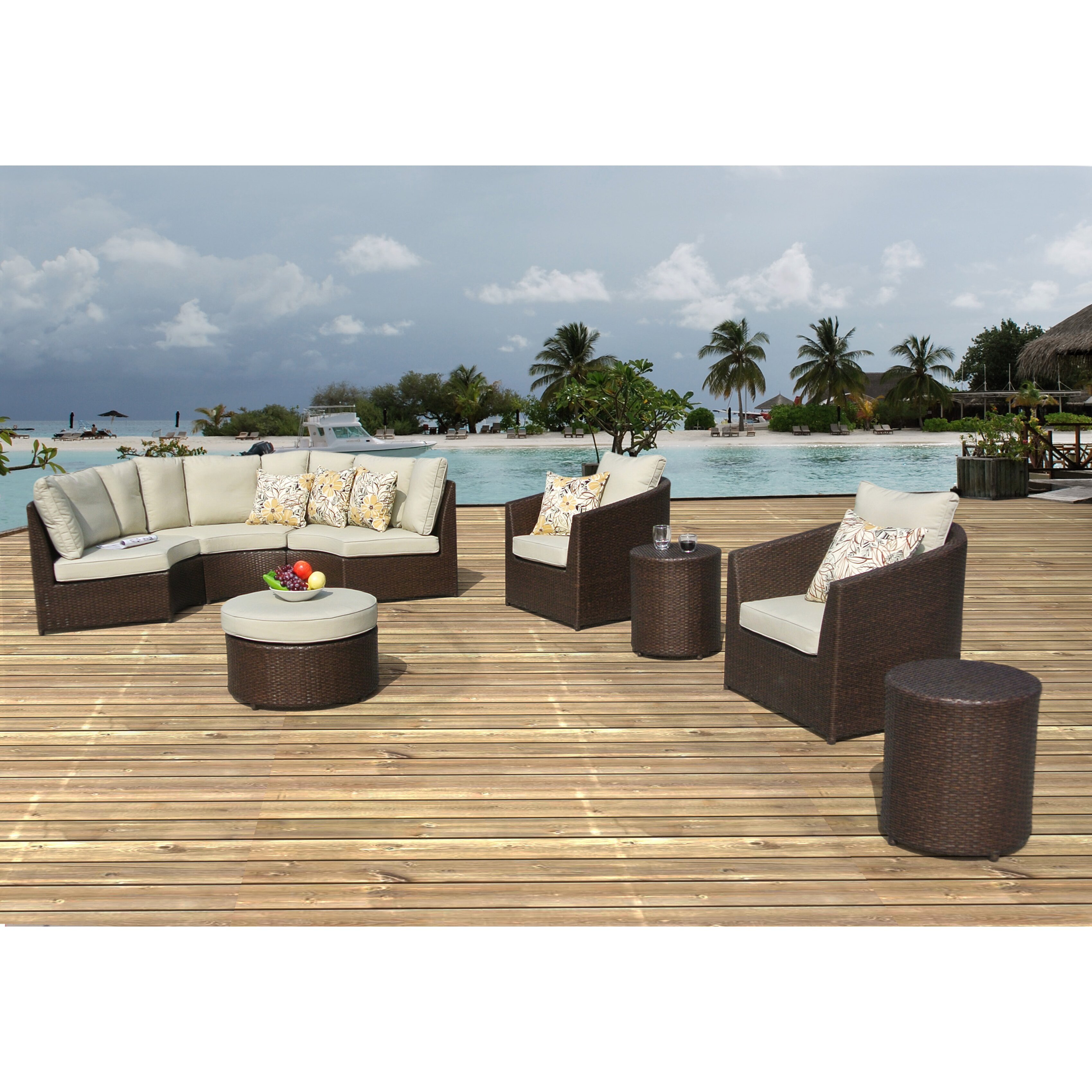 Borealis Conversation 8 Piece Deep Seating Group with