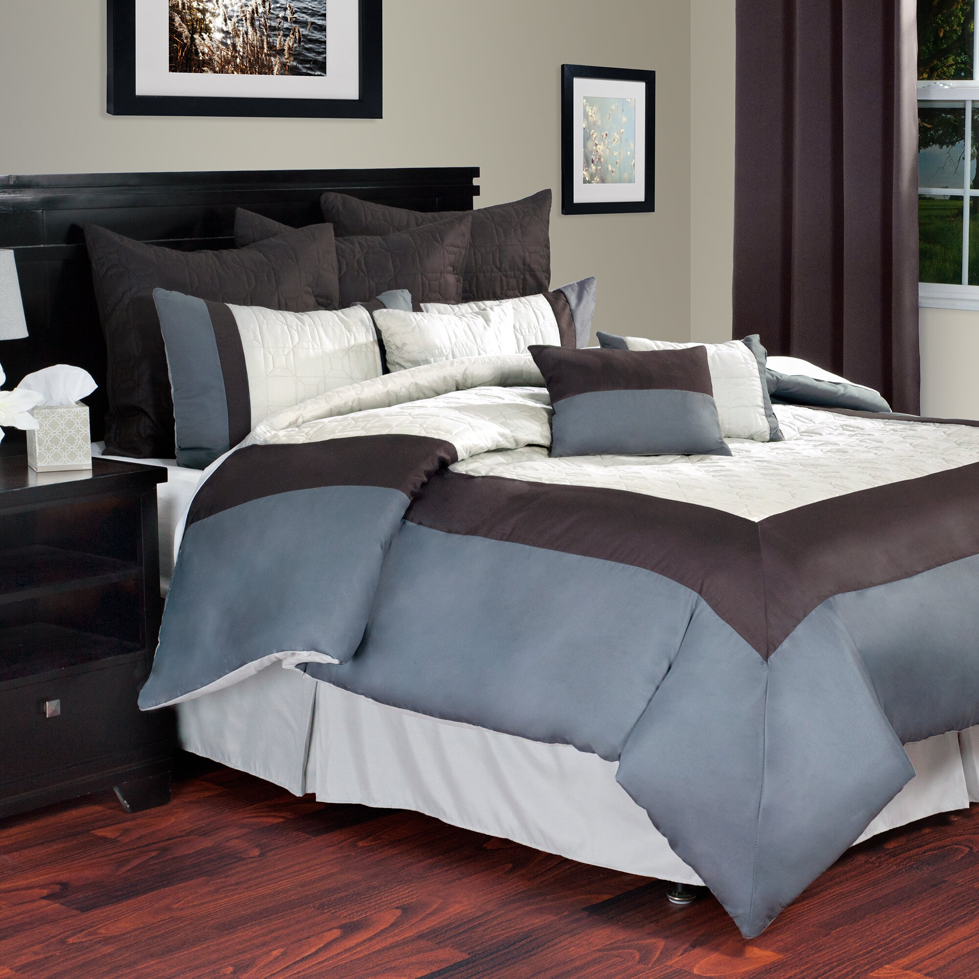 Reviews On Hotel Collection Bedding: Lavish Home Hotel Comforter Set & Reviews