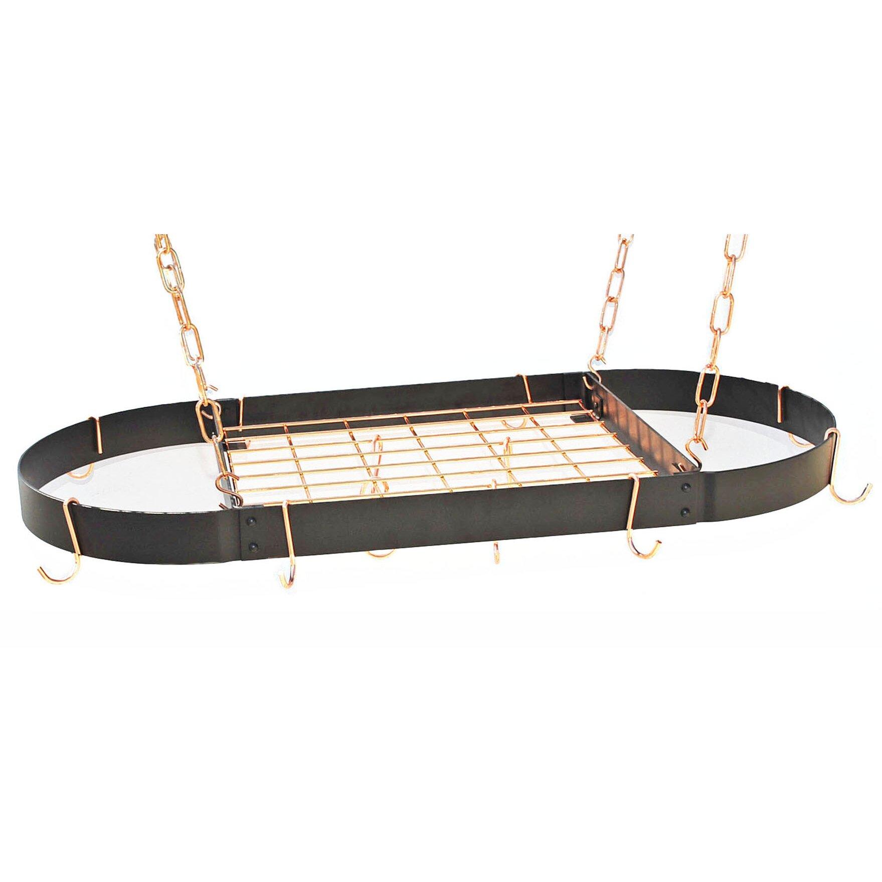 Rogar Oval Hanging Pot Rack & Reviews | Wayfair