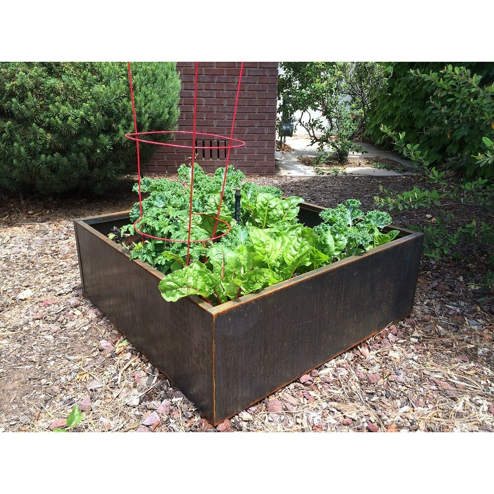 Nice Planter Square Raised Garden Amp Reviews Wayfair