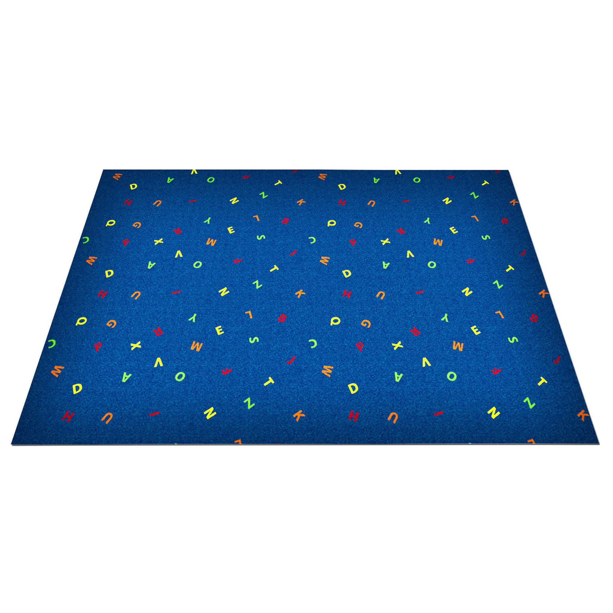 Kid Carpet Blue Scattered Letters Area Rug & Reviews