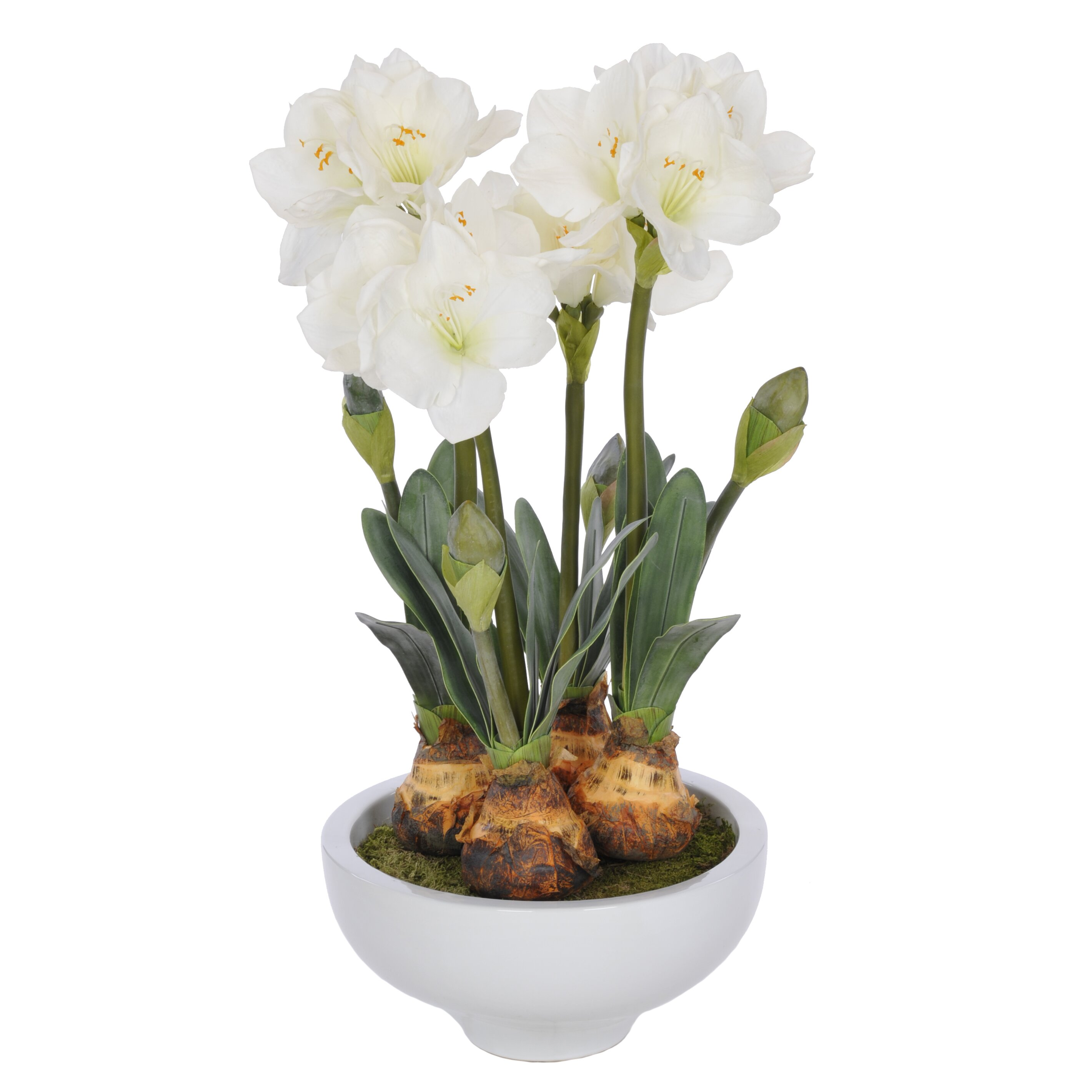 Flower Pots With Artificial Flowers Artificial Amaryllis In Pot Hf Ww