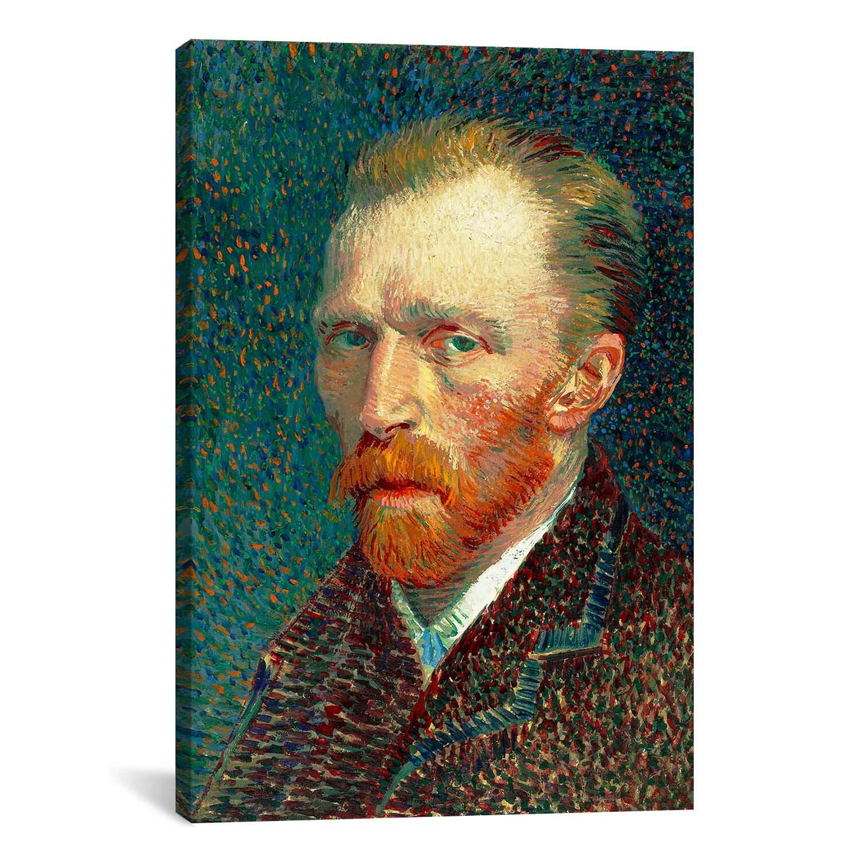 u0026#39;Self Portrait, 1887u0026#39; by Vincent Van Gogh Painting Print on Canvas : Wayfair