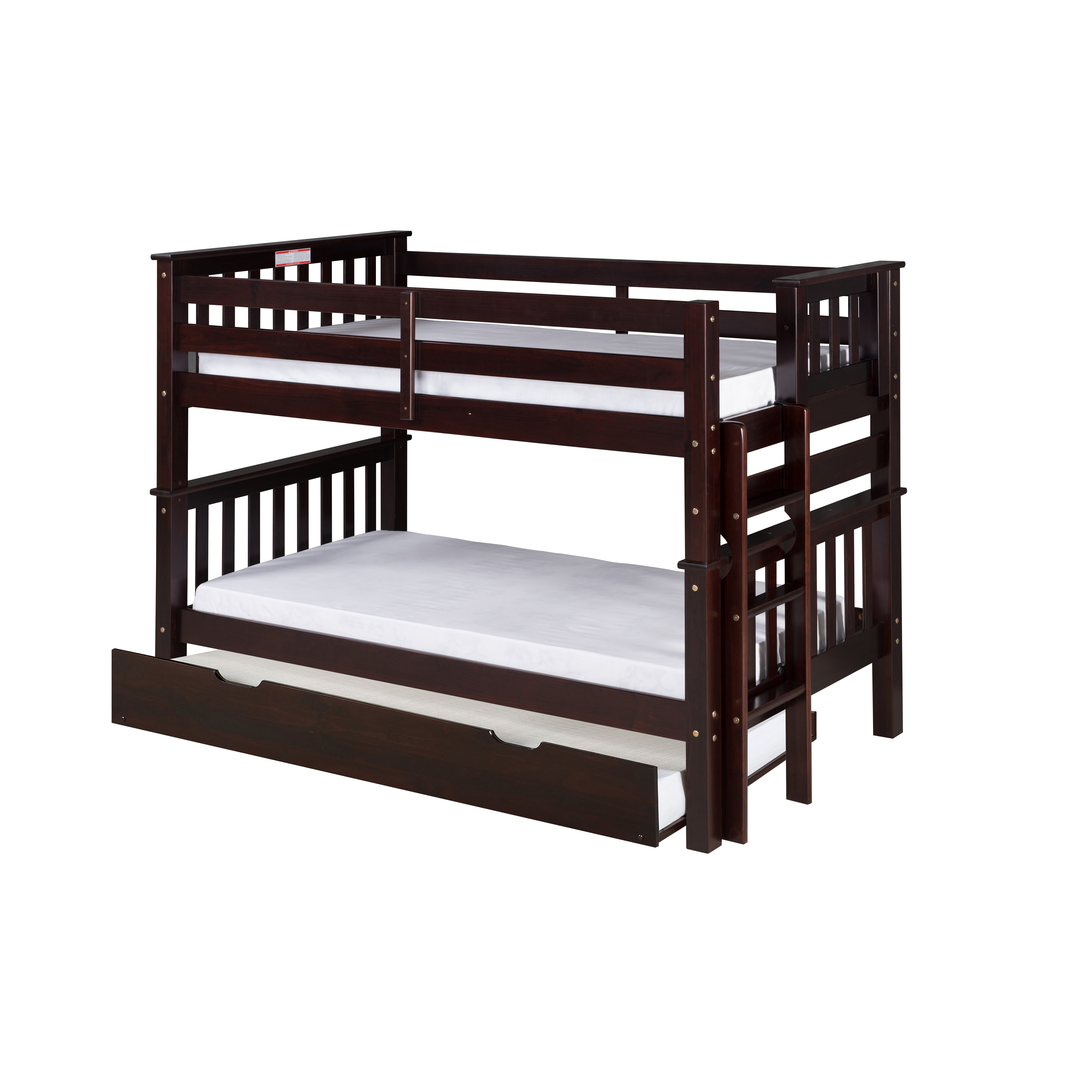 camaflexi santa fe mission twin bunk bed with trundle. Black Bedroom Furniture Sets. Home Design Ideas