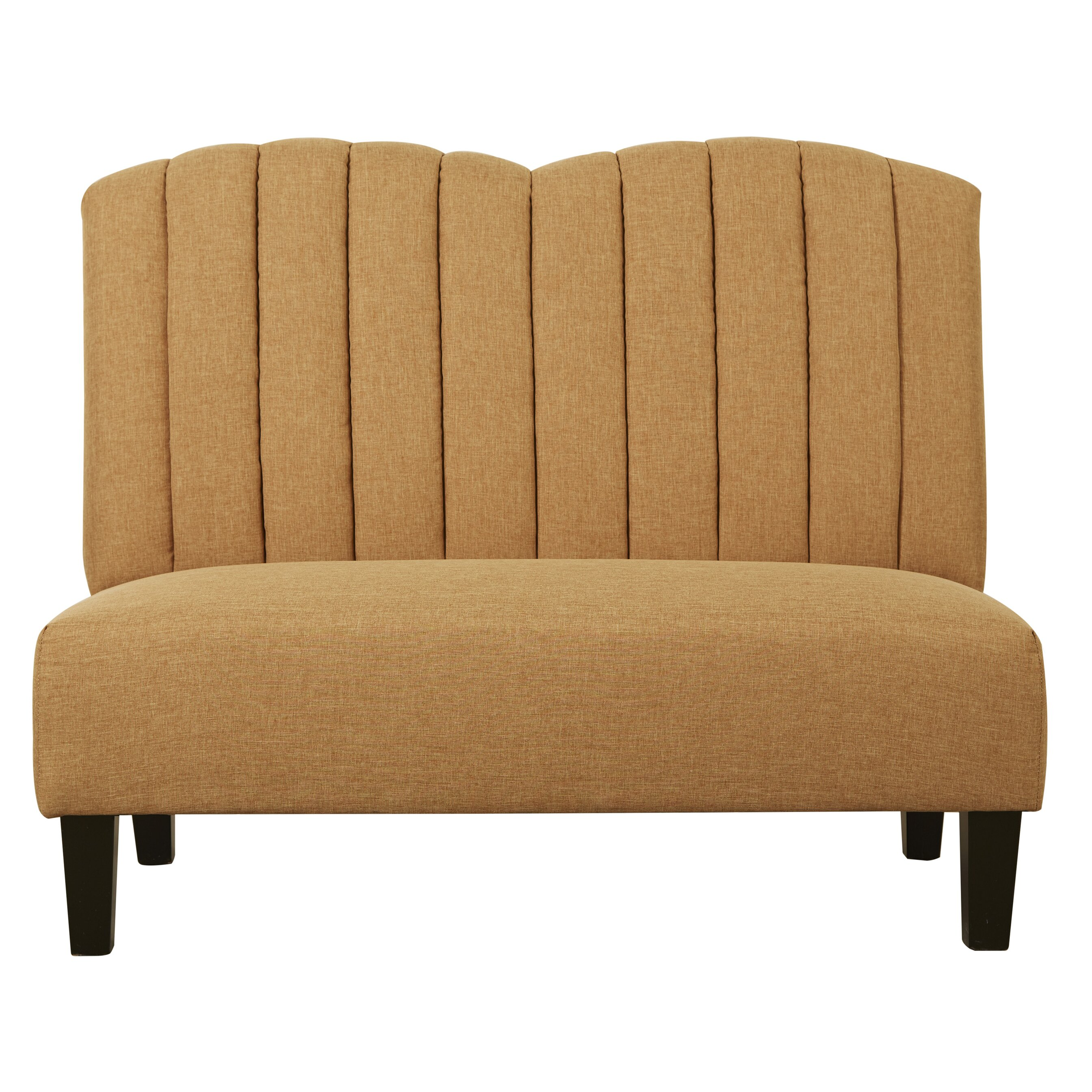 Banquette Chair: PRI Upholstered Banquette In Hayden Honey & Reviews