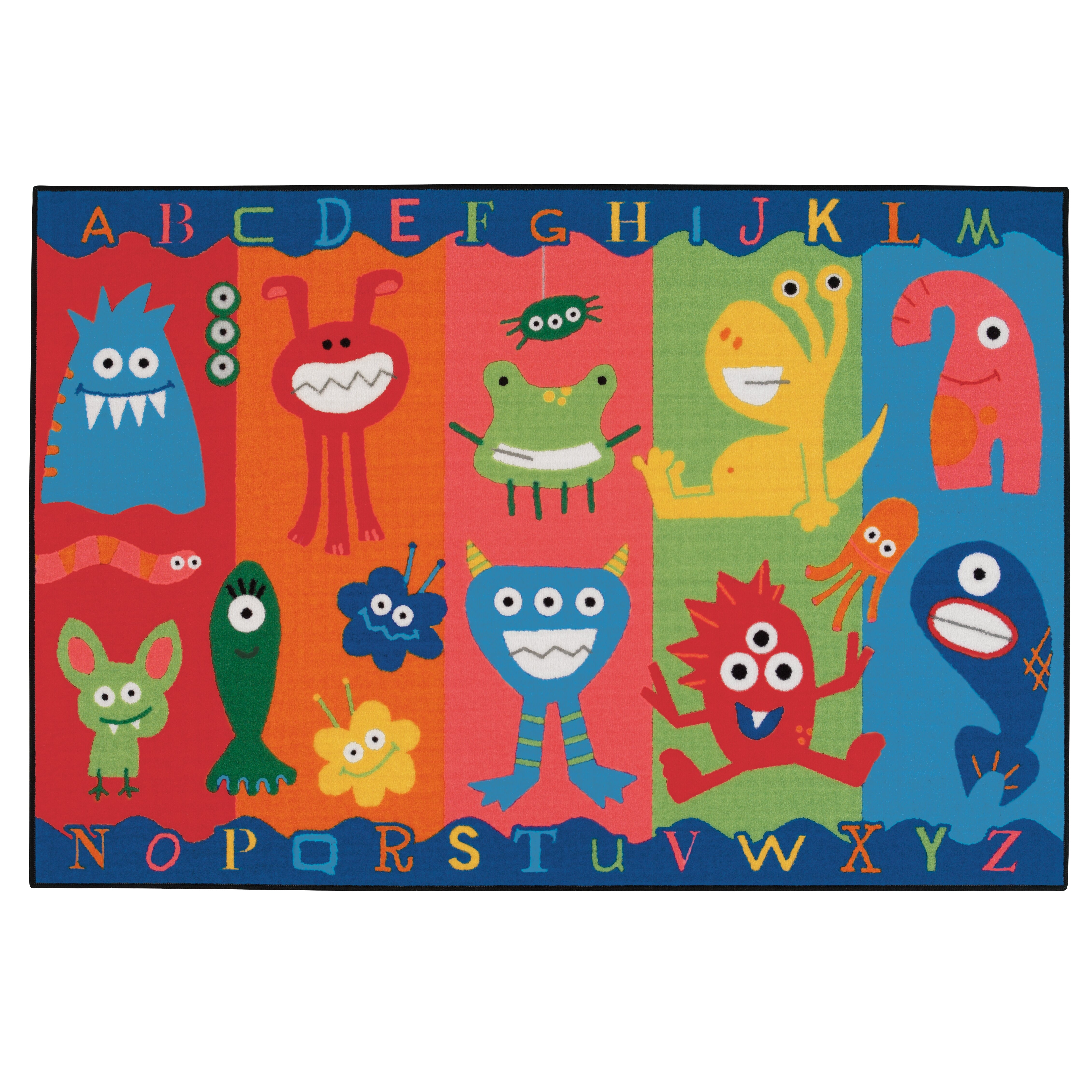 Kids Value Rugs Alphabet Monsters Kids Area Rug & Reviews