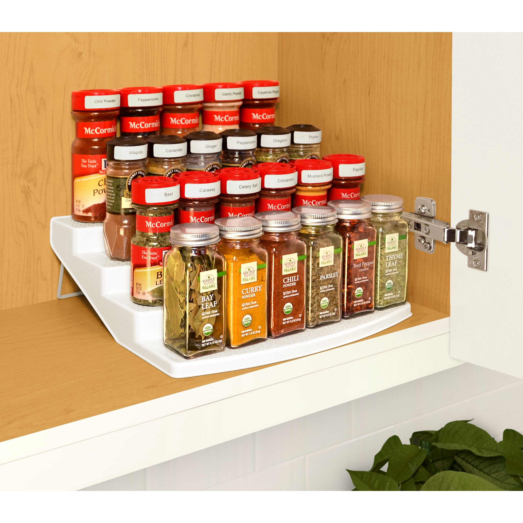 YouCopia Spice Steps 4-Tier Cabinet Spice Rack Organizer