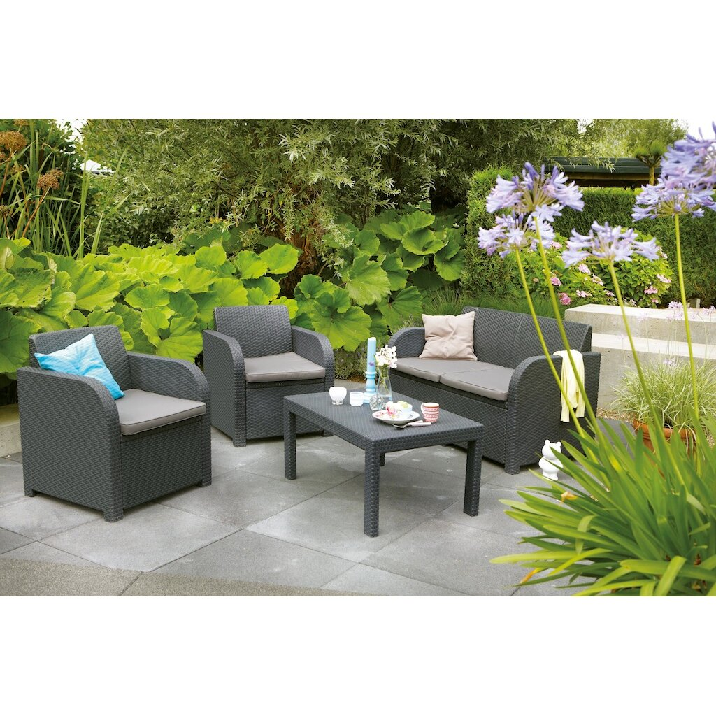 Suntime Outdoor Living Oklahoma 4 Piece Lounge Seating Group With Cushion Reviews Wayfair