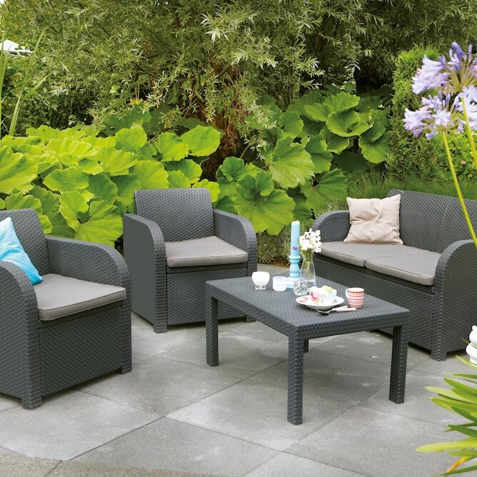 SunTime Outdoor Living Oklahoma 4 Piece Lounge Seating ... on Suntime Outdoor Living id=41449