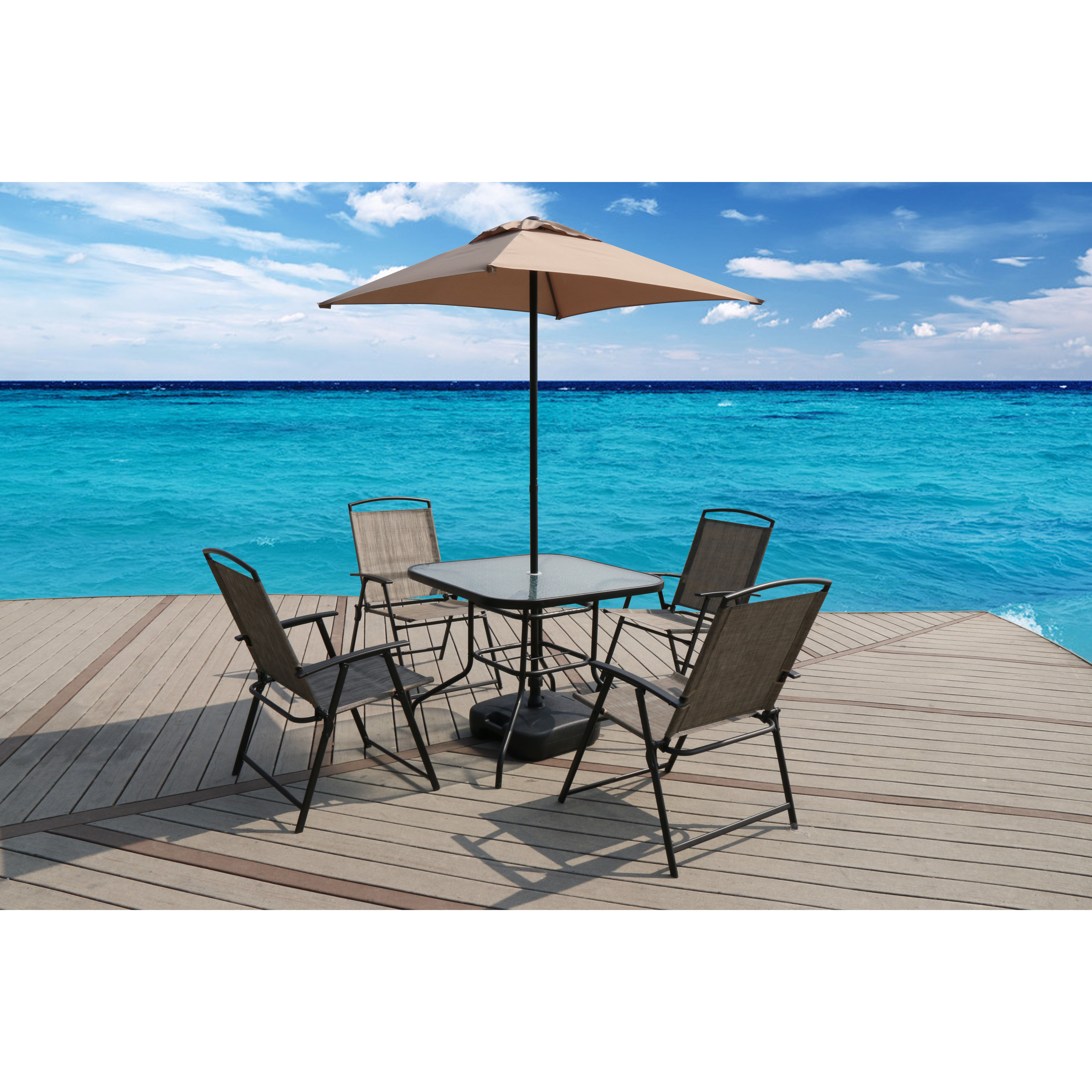 SunTime Outdoor Living Oasis 7 Piece Dining Set & Reviews ... on Suntime Outdoor Living id=25684