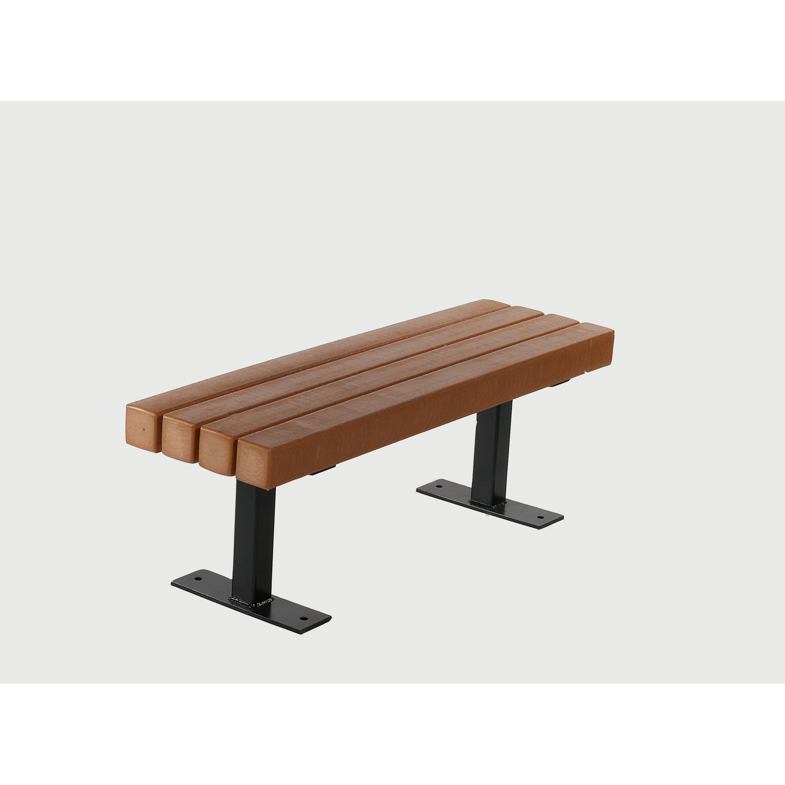 Frog Furnishings Trailside Recycled Plastic Park Bench Reviews Wayfair