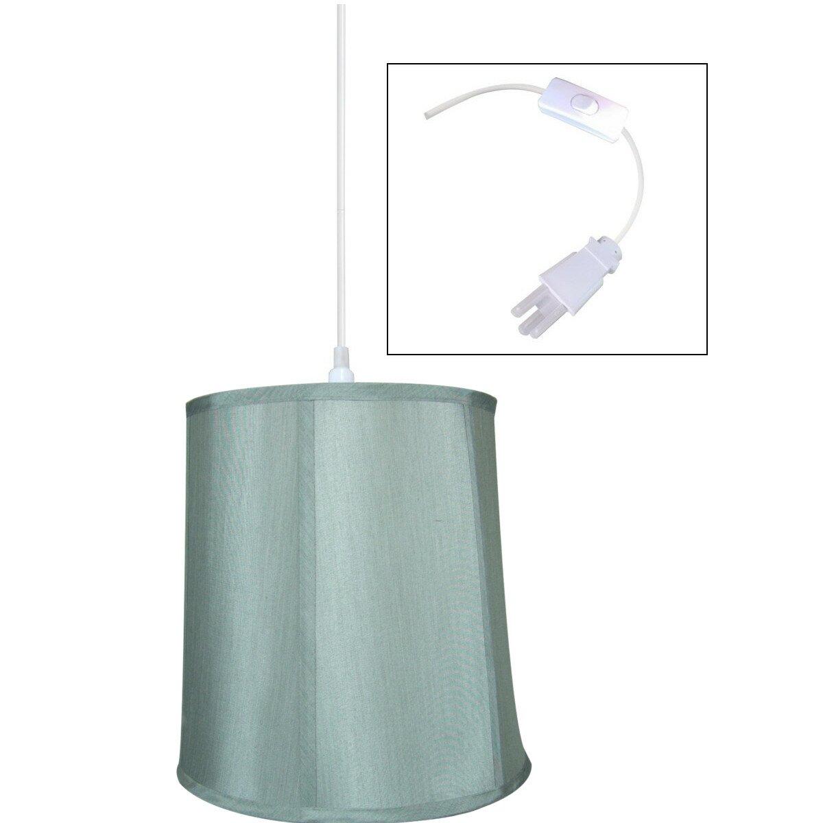 home concept 1 light plug in swag mini pendant reviews wayfair. Black Bedroom Furniture Sets. Home Design Ideas