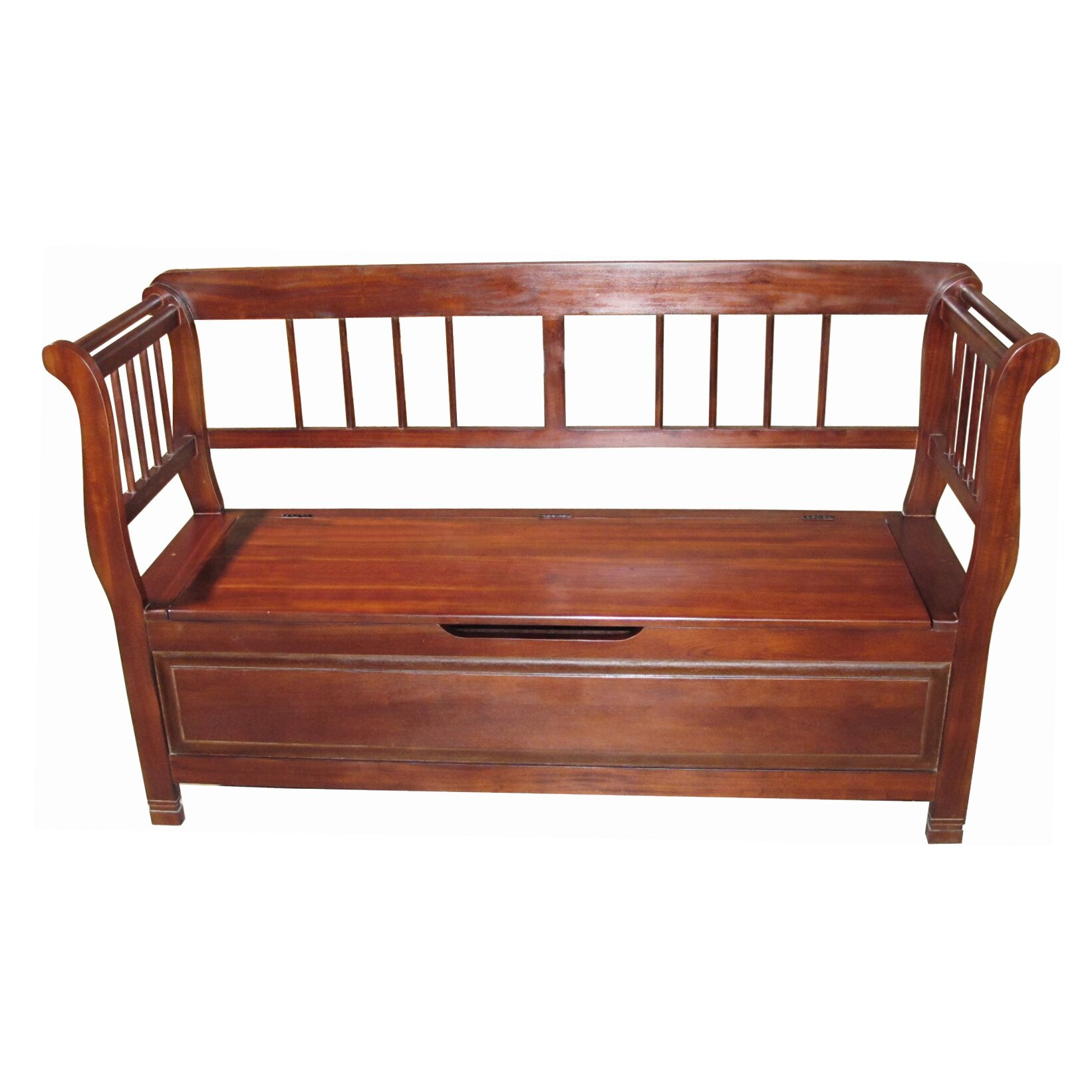 Wonderful image of Lift Wood Storage Bench by D Art Collection with #A64B25 color and 1642x1642 pixels
