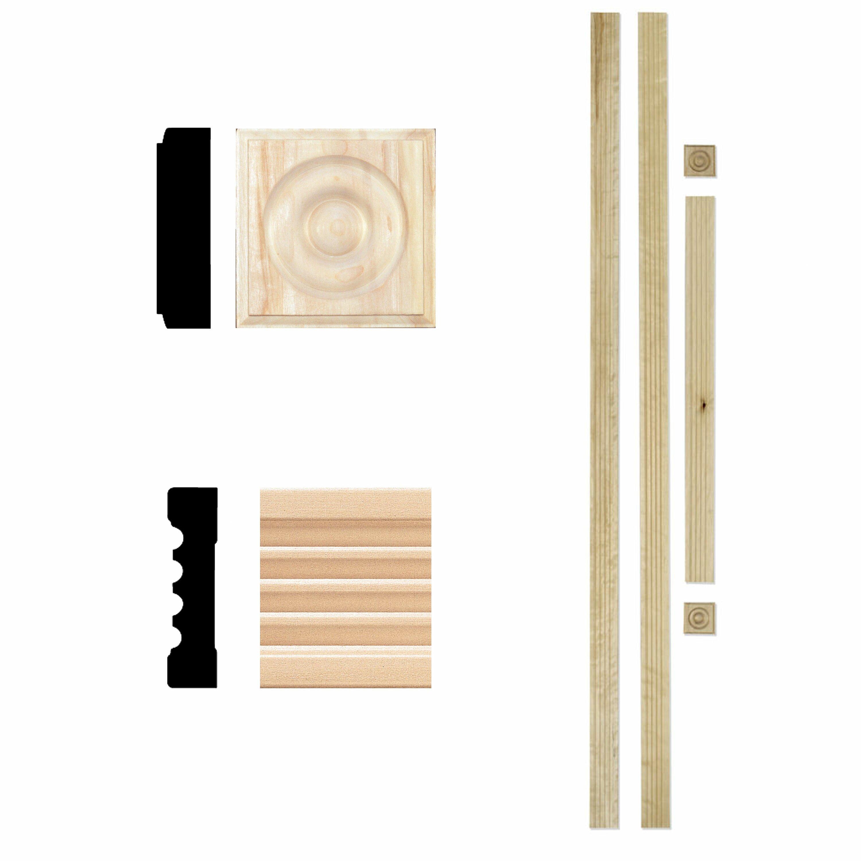 In ft hardwood fluted door trim casing