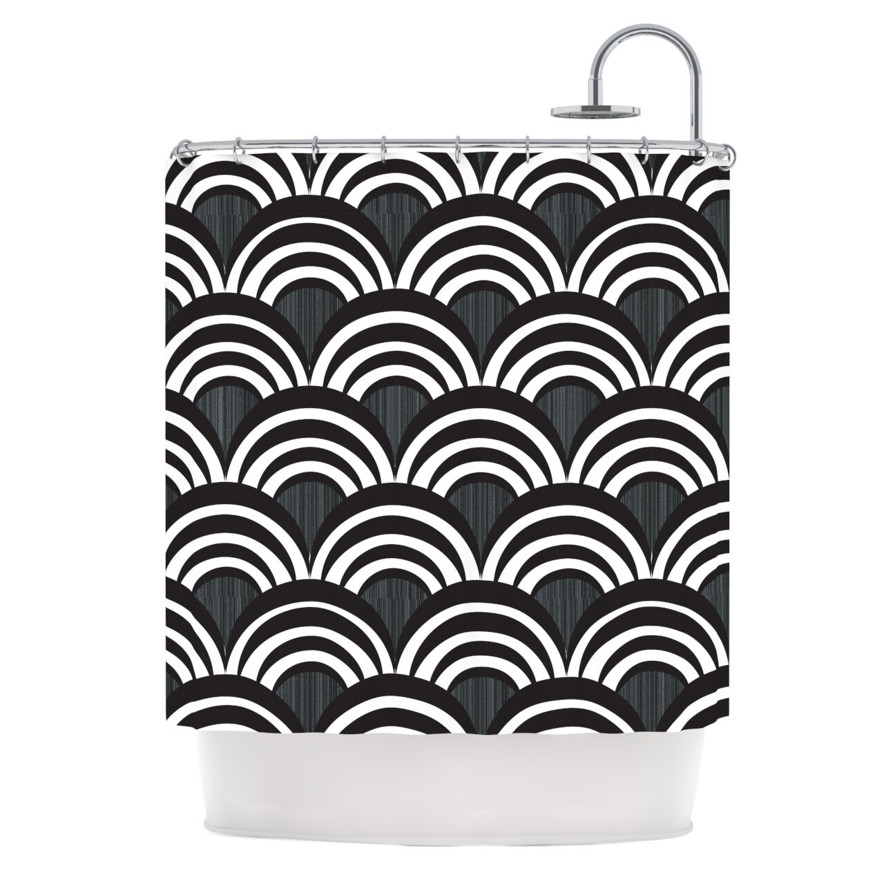Art Deco Shower Curtain
