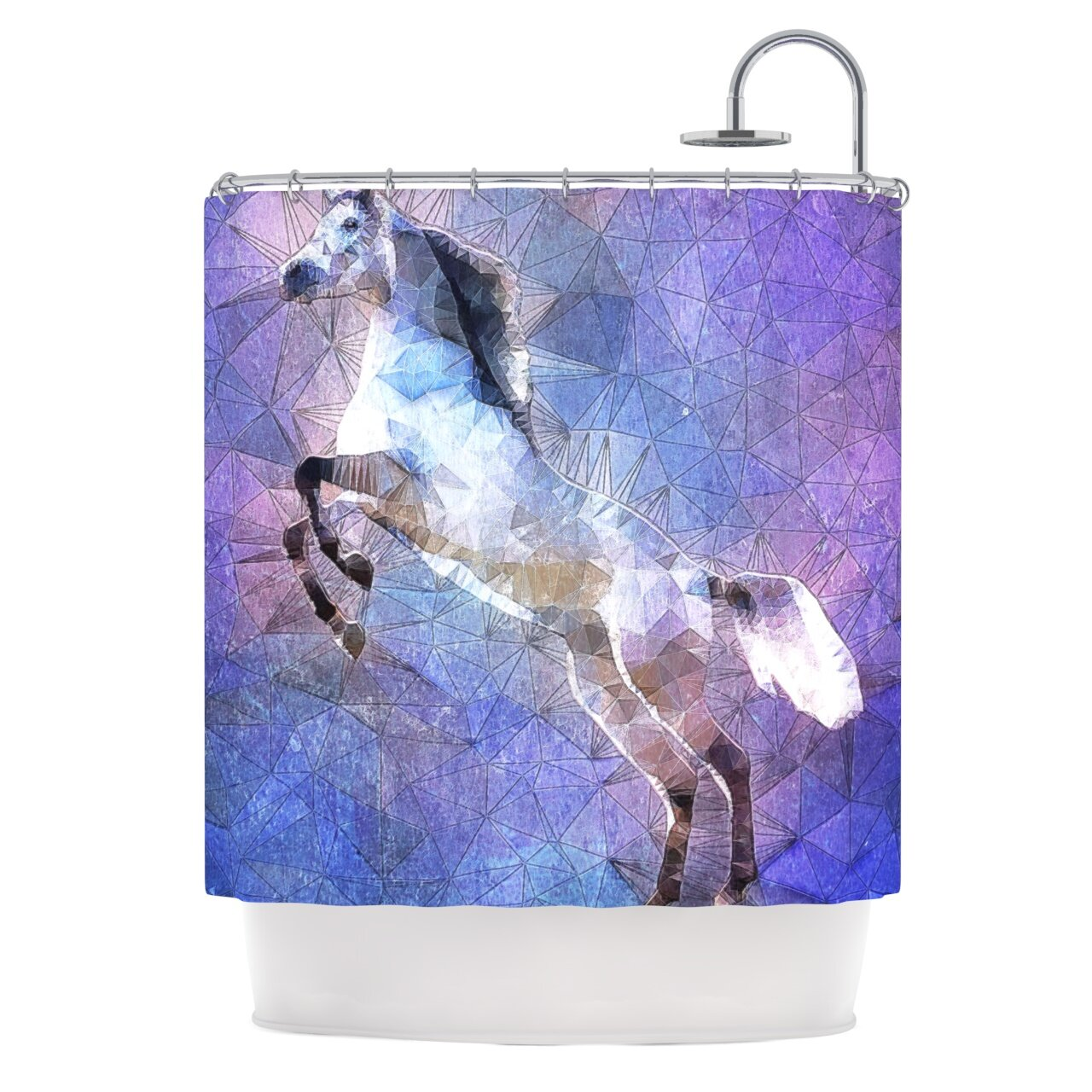Abstract Horse By Ancello Shower Curtain Wayfair