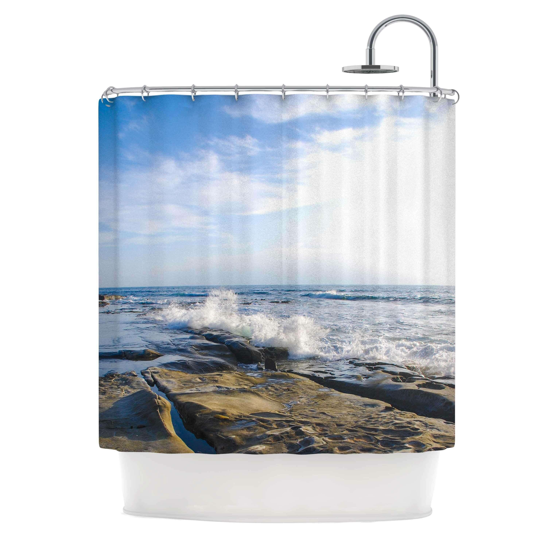 Ocean shower curtain - Breaking Wave Shower Curtain By Fantasyartdesigns