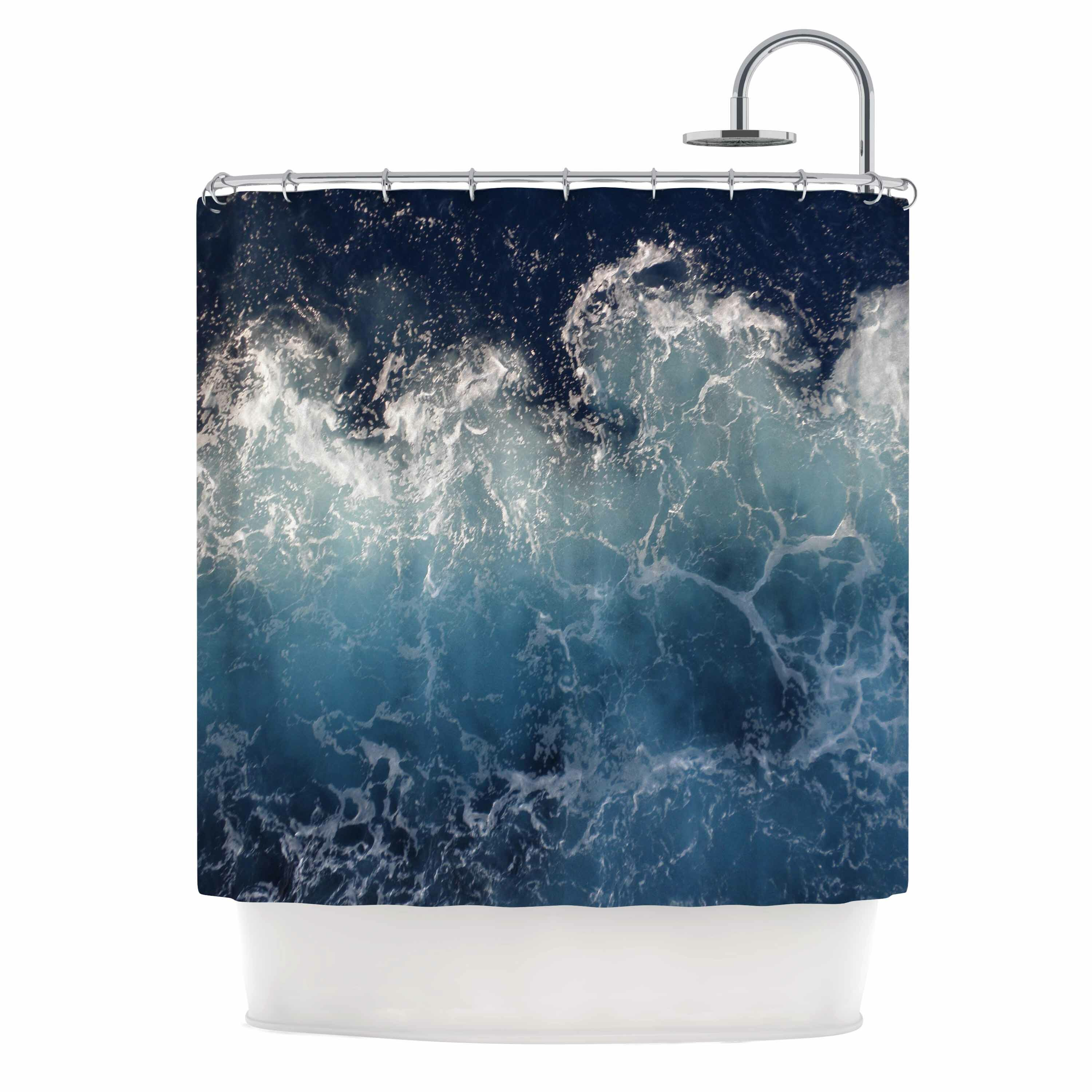 KESS InHouse Sea Spray by Suzanne Carter Ocean Shower Curtain ...