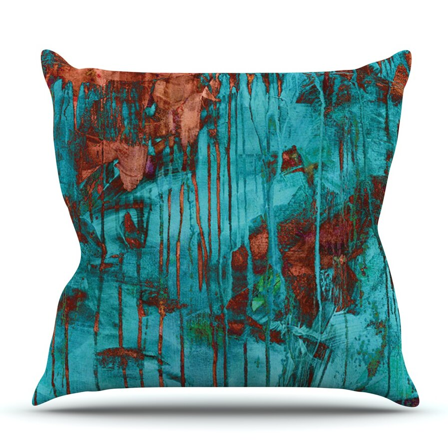 Rusty Teal by Iris Lehnhardt Outdoor Throw Pillow Wayfair