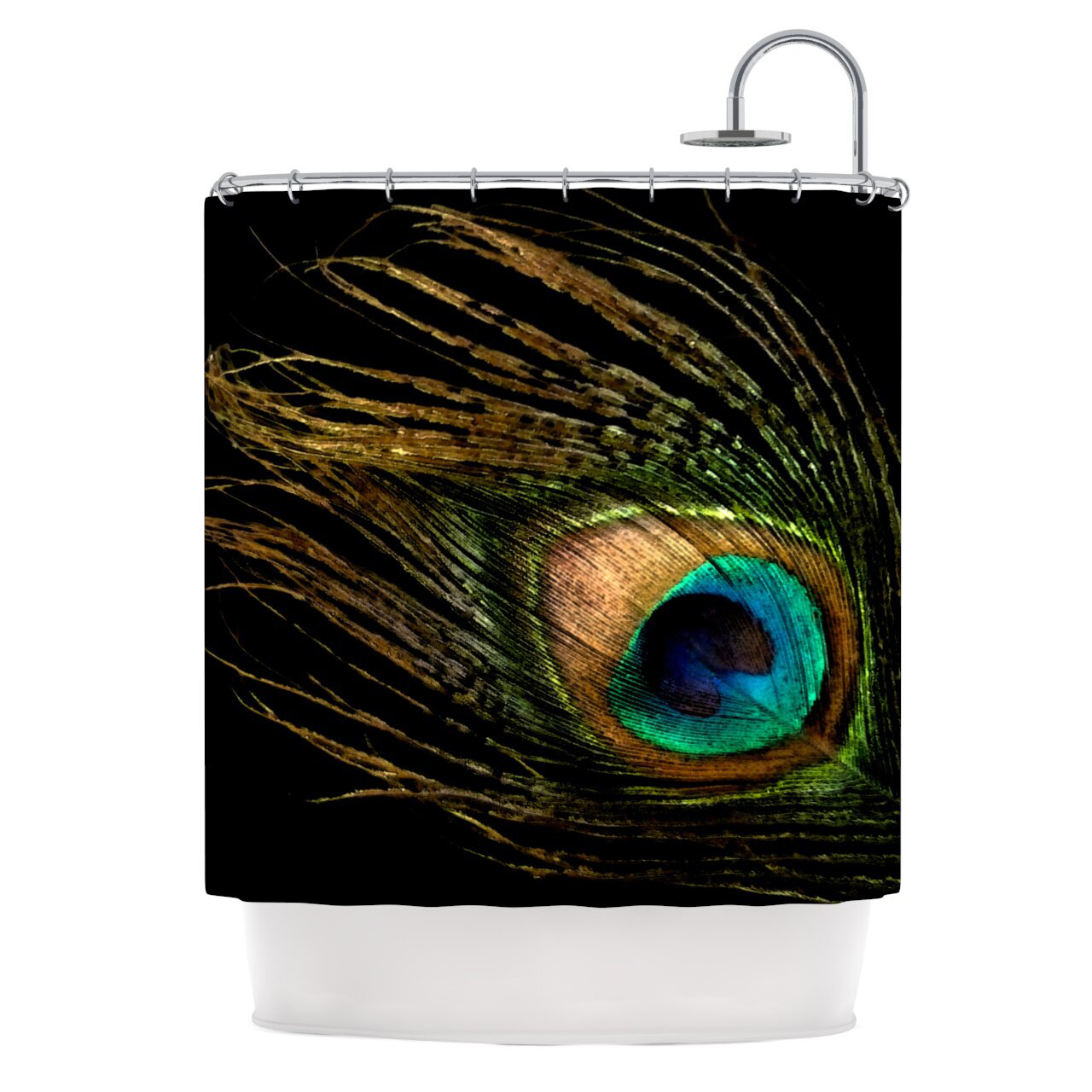 kess inhouse peacock shower curtain reviews wayfair
