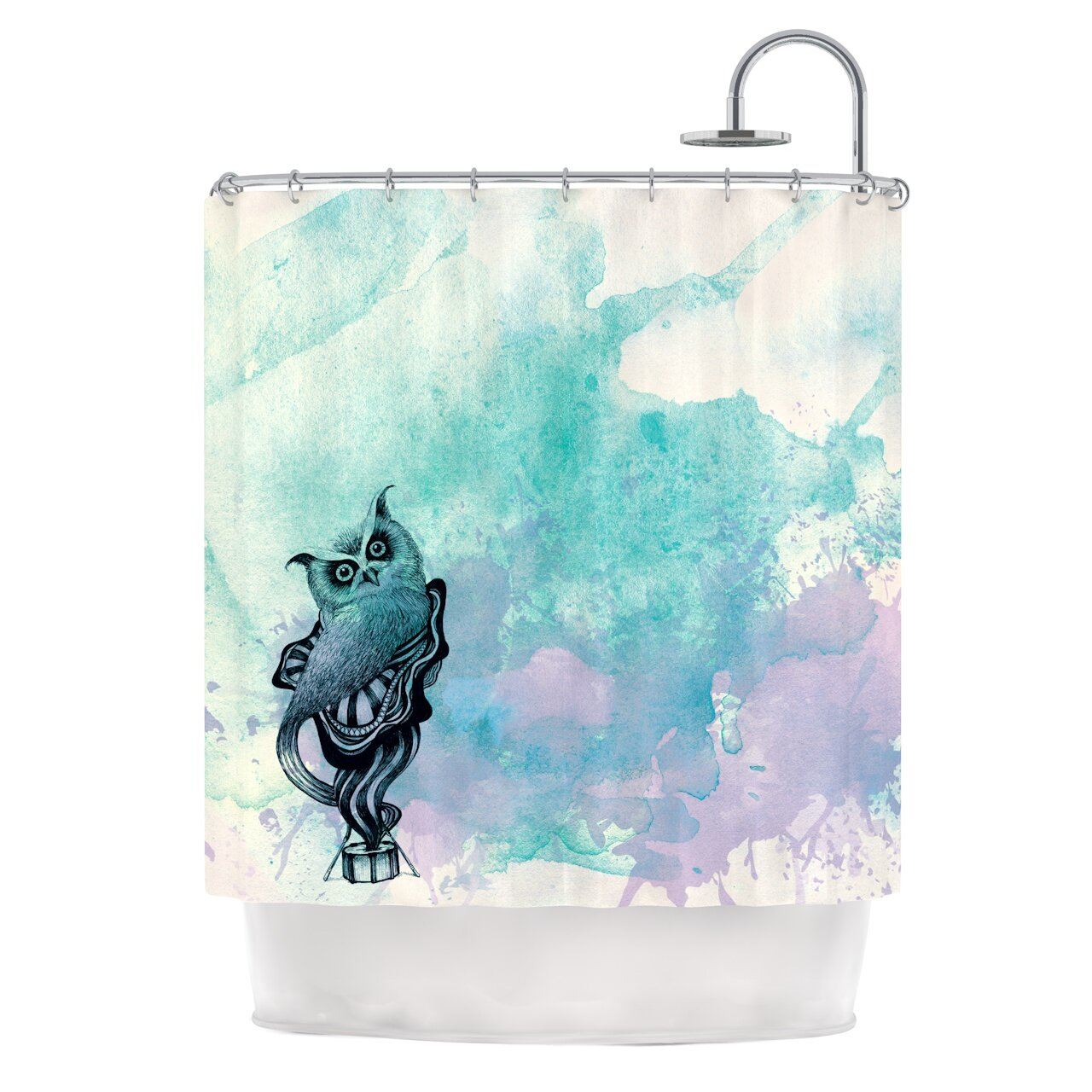 kess inhouse owl ii shower curtain reviews wayfair