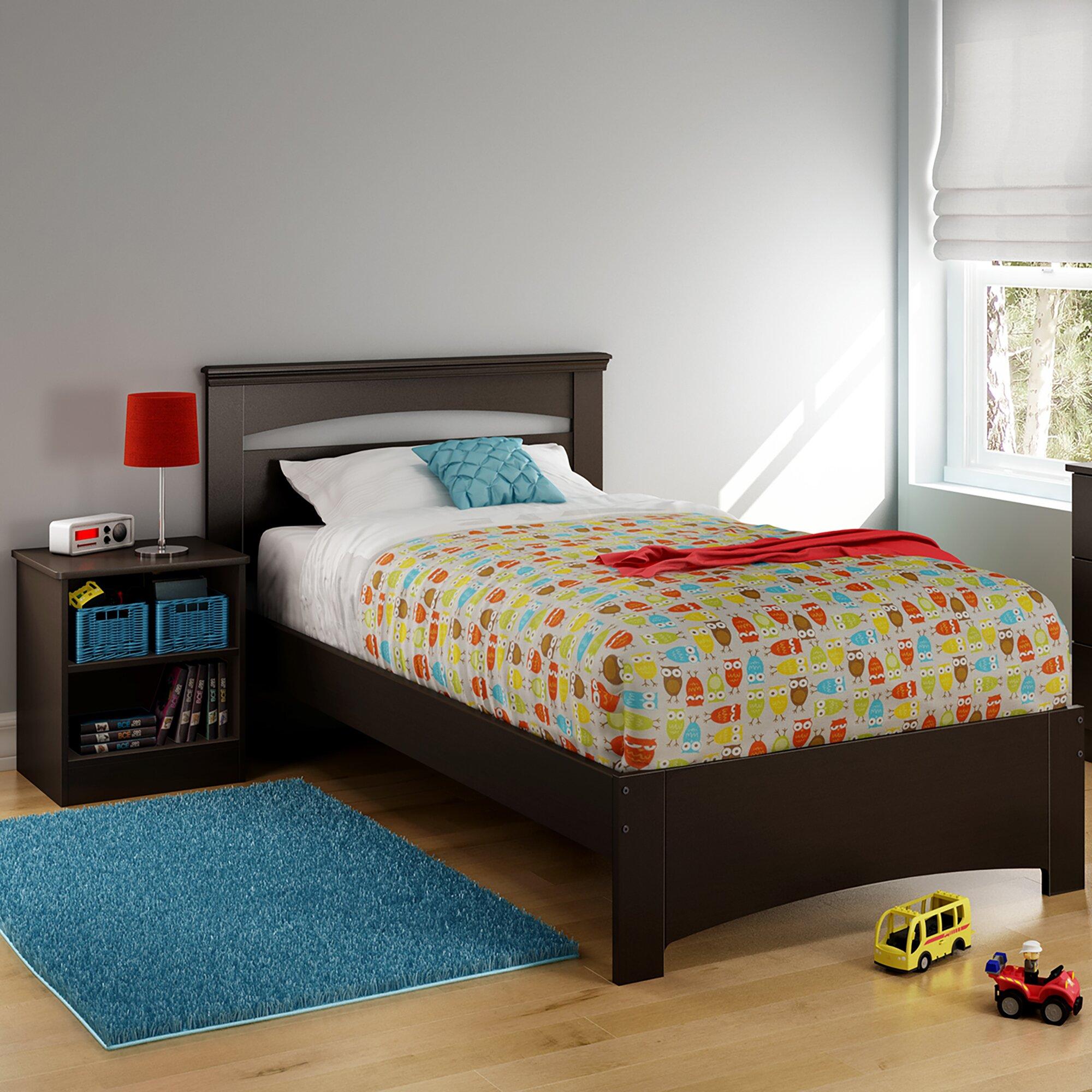 south shore libra twin platform bed reviews wayfair. Black Bedroom Furniture Sets. Home Design Ideas