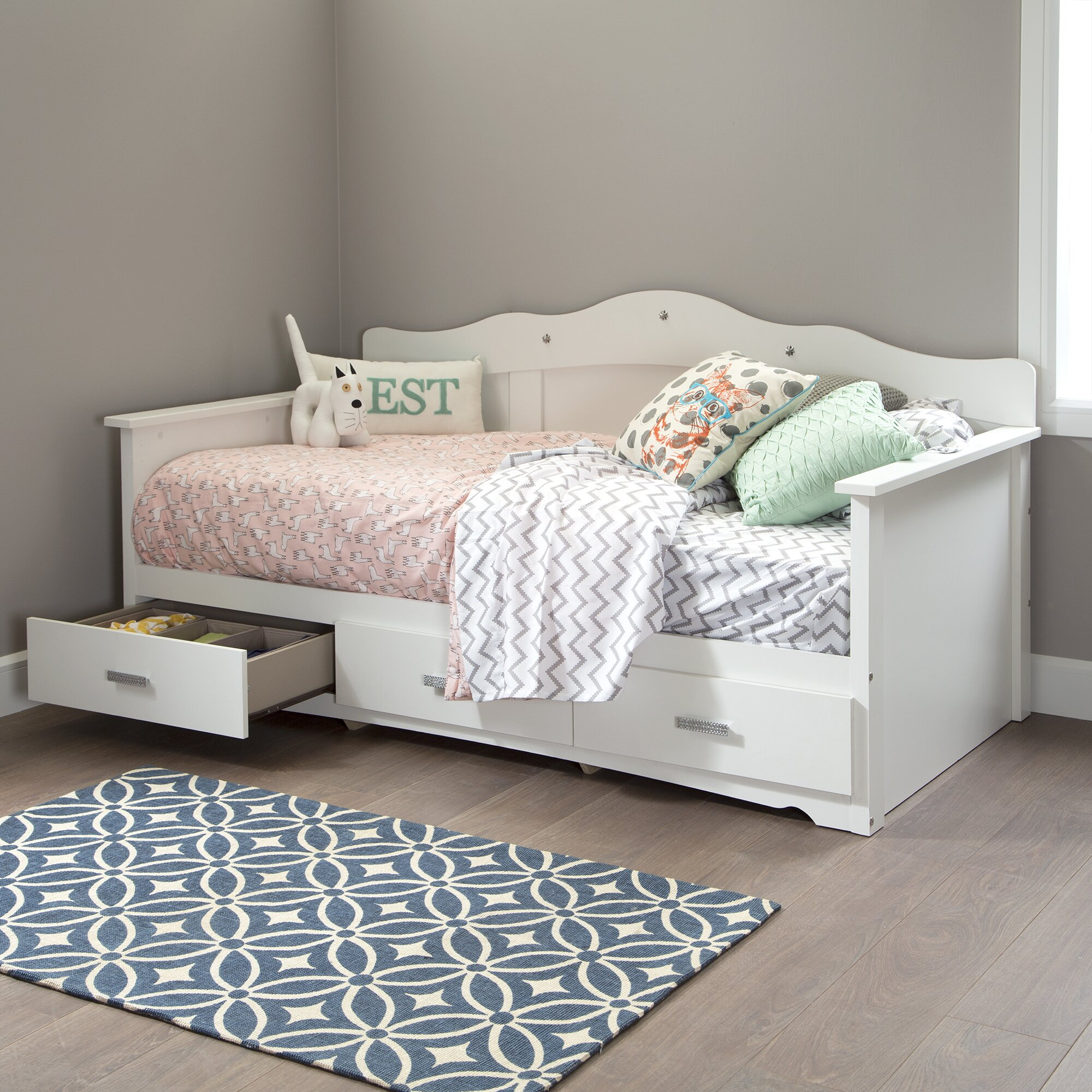 South Shore Tiara Daybed with Storage & Reviews  Wayfair