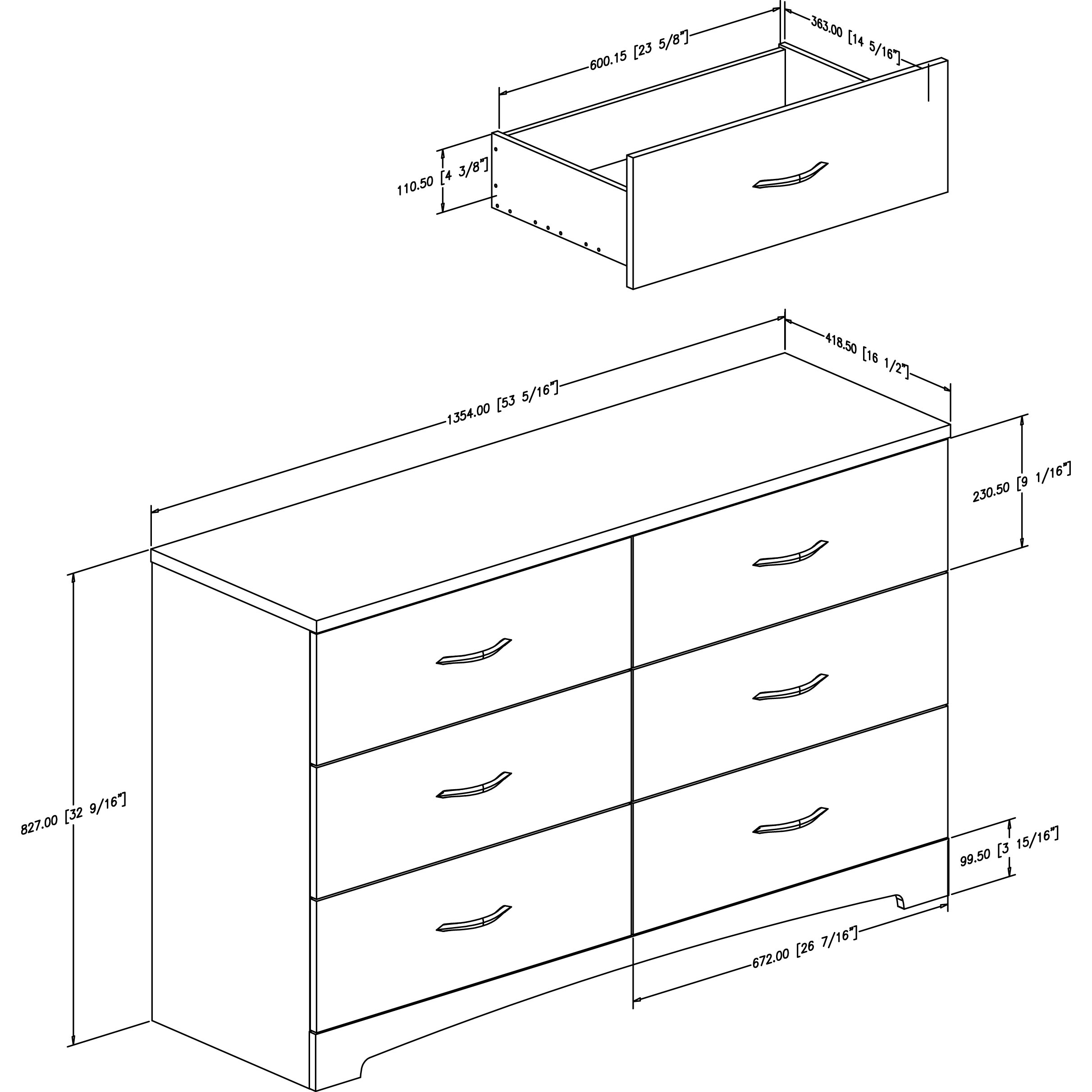 South Shore Step One 6 Drawer Dresser Amp Reviews Wayfair