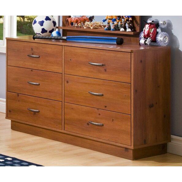 Logik 6 Drawer Double Dresser By South Shore