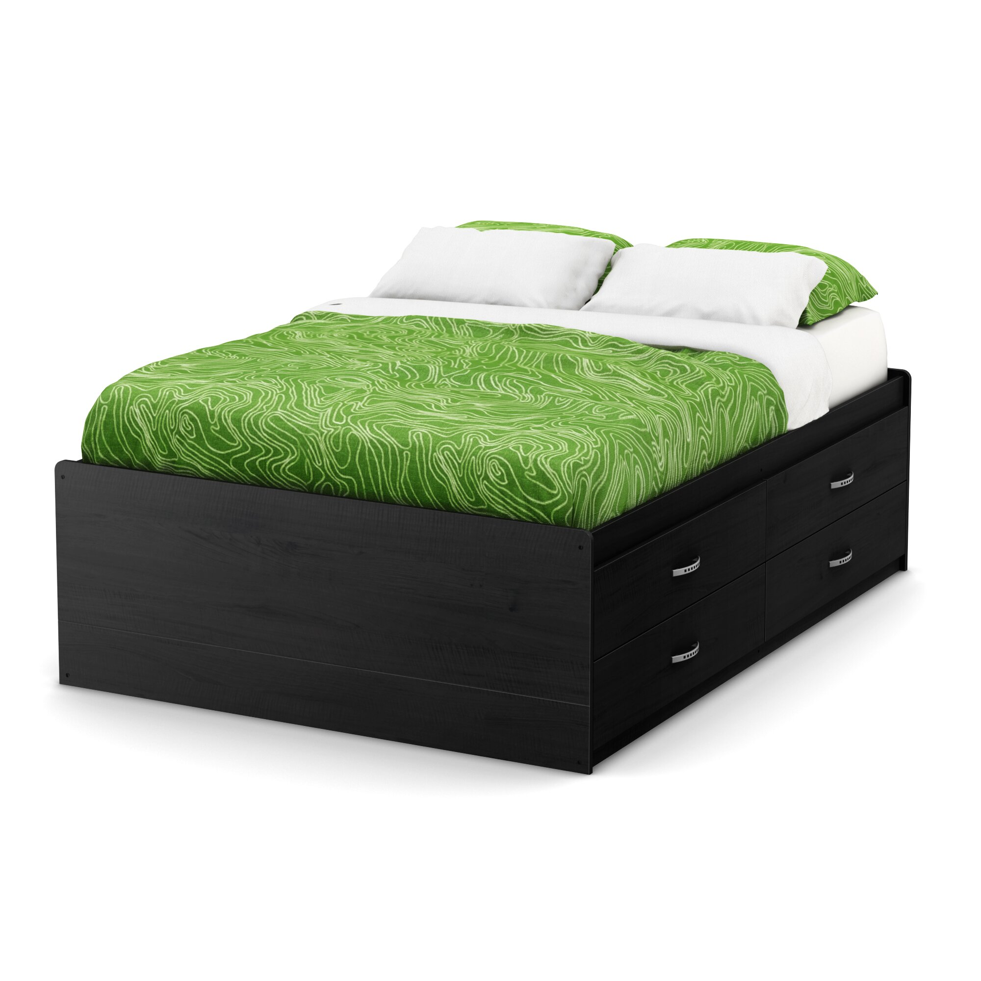 south shore lazer full captain 39 s bed with storage reviews wayfair