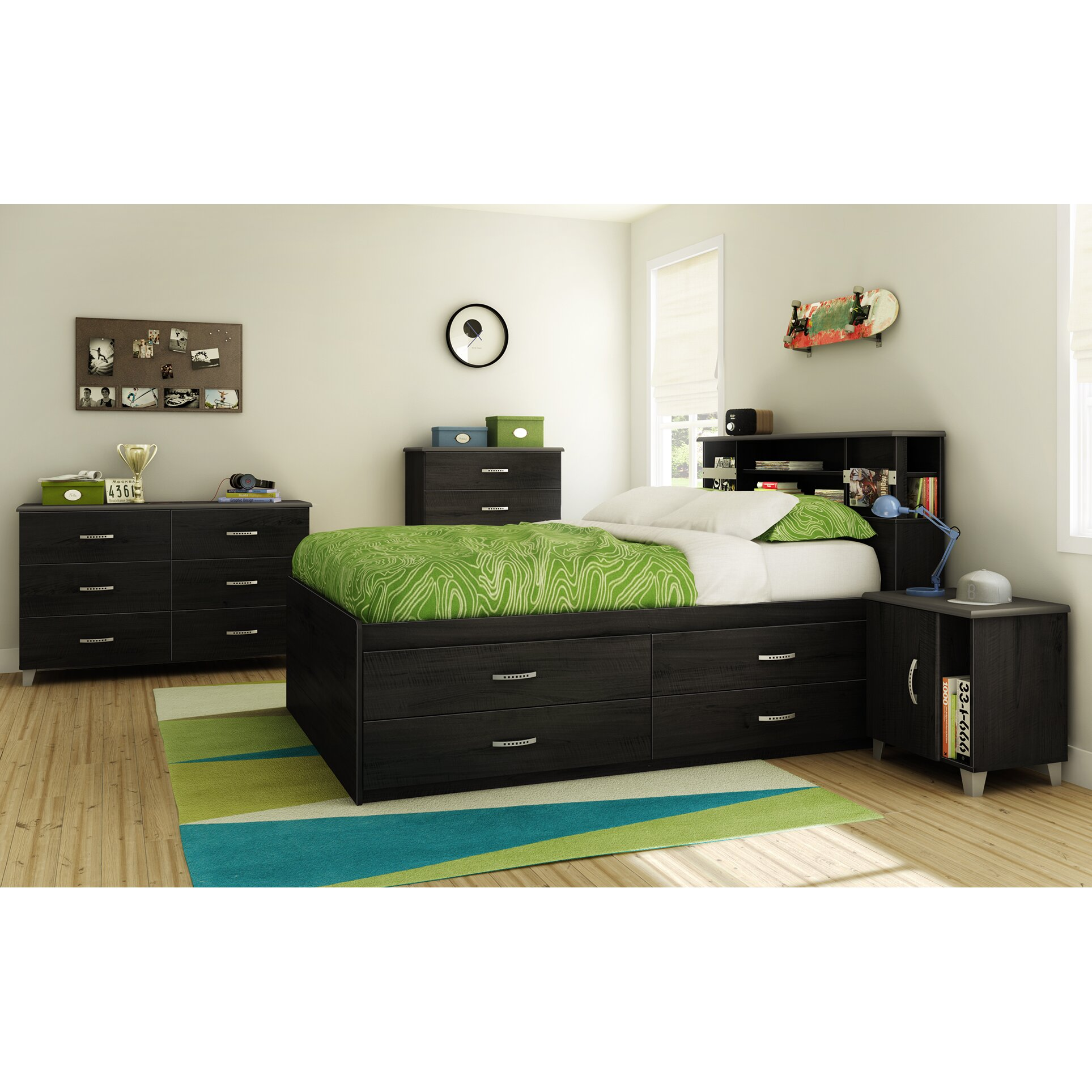south shore lazer full captain 39 s bed with storage reviews wayfair. Black Bedroom Furniture Sets. Home Design Ideas