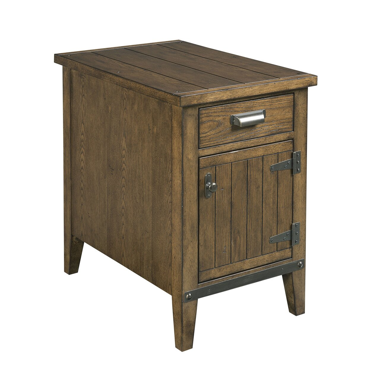 rustic chairside table wayfair