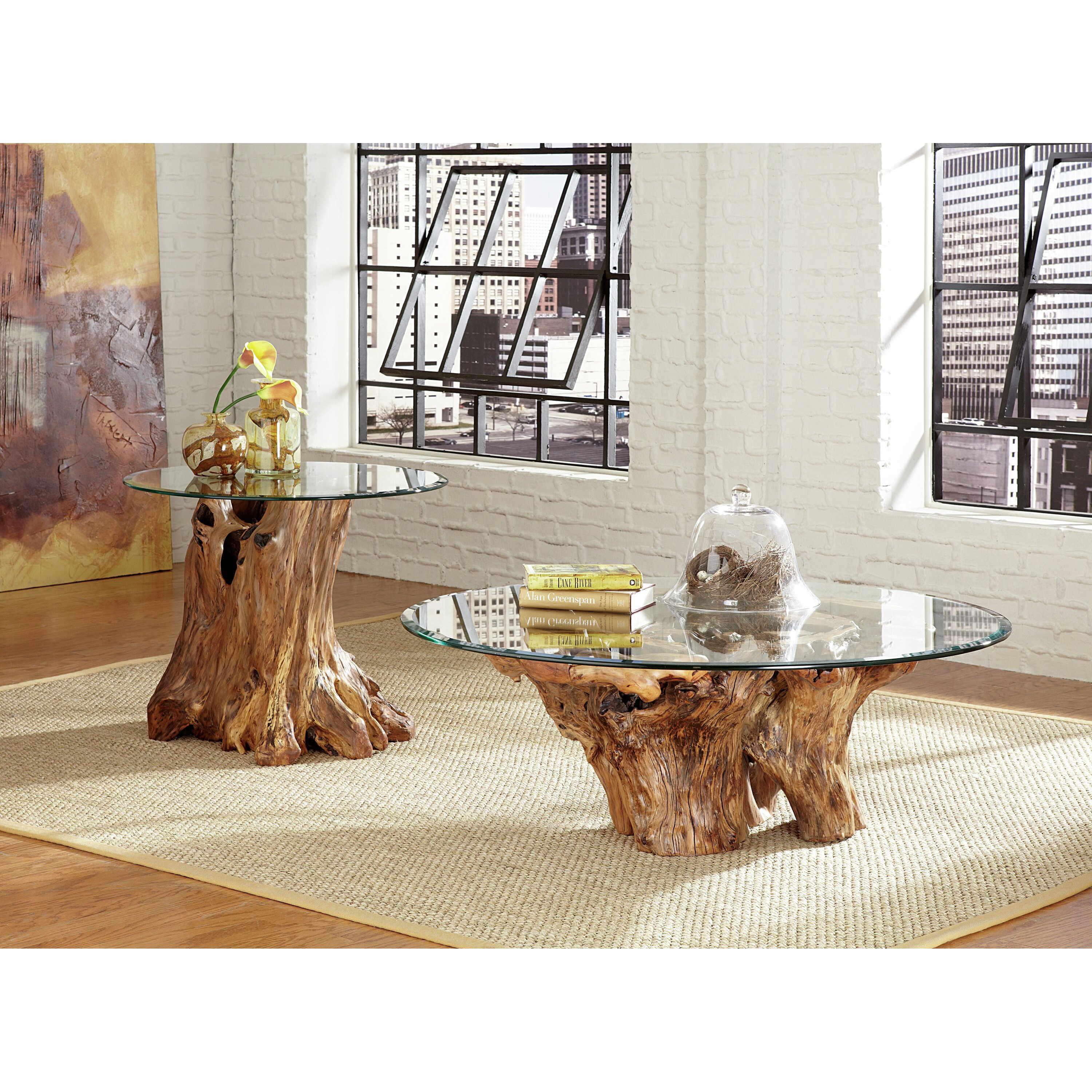 Root And Glass Coffee Table: Hammary Hidden Treasures Root Ball Coffee Table & Reviews