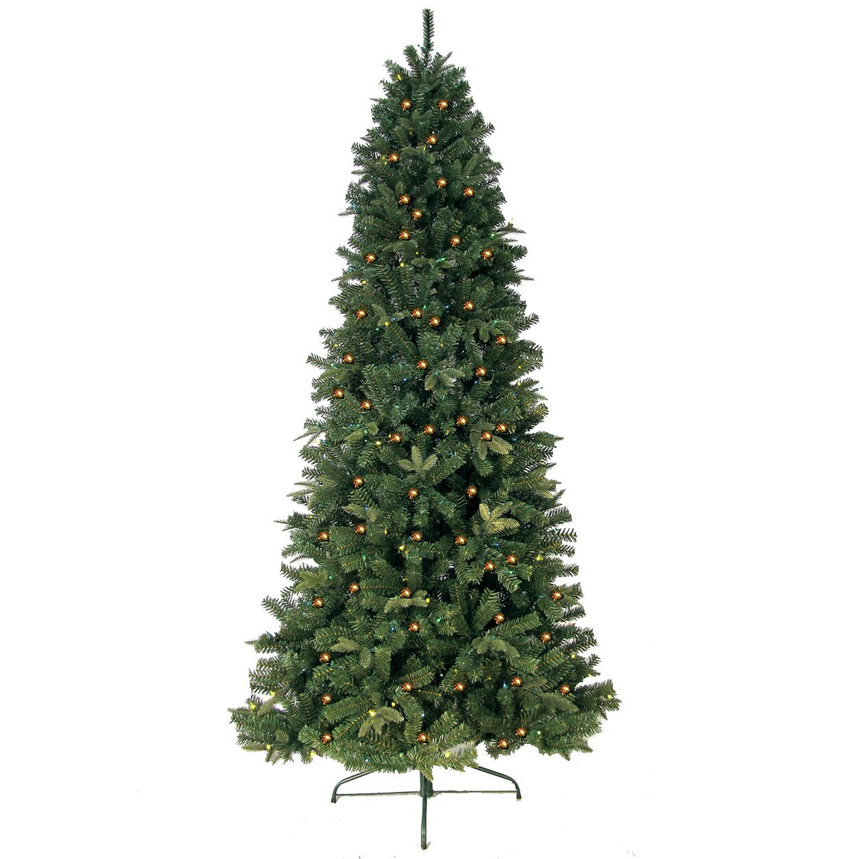 Next Slim Christmas Tree: 7' Green Eastwood Fir Slim Artificial Christmas Tree With