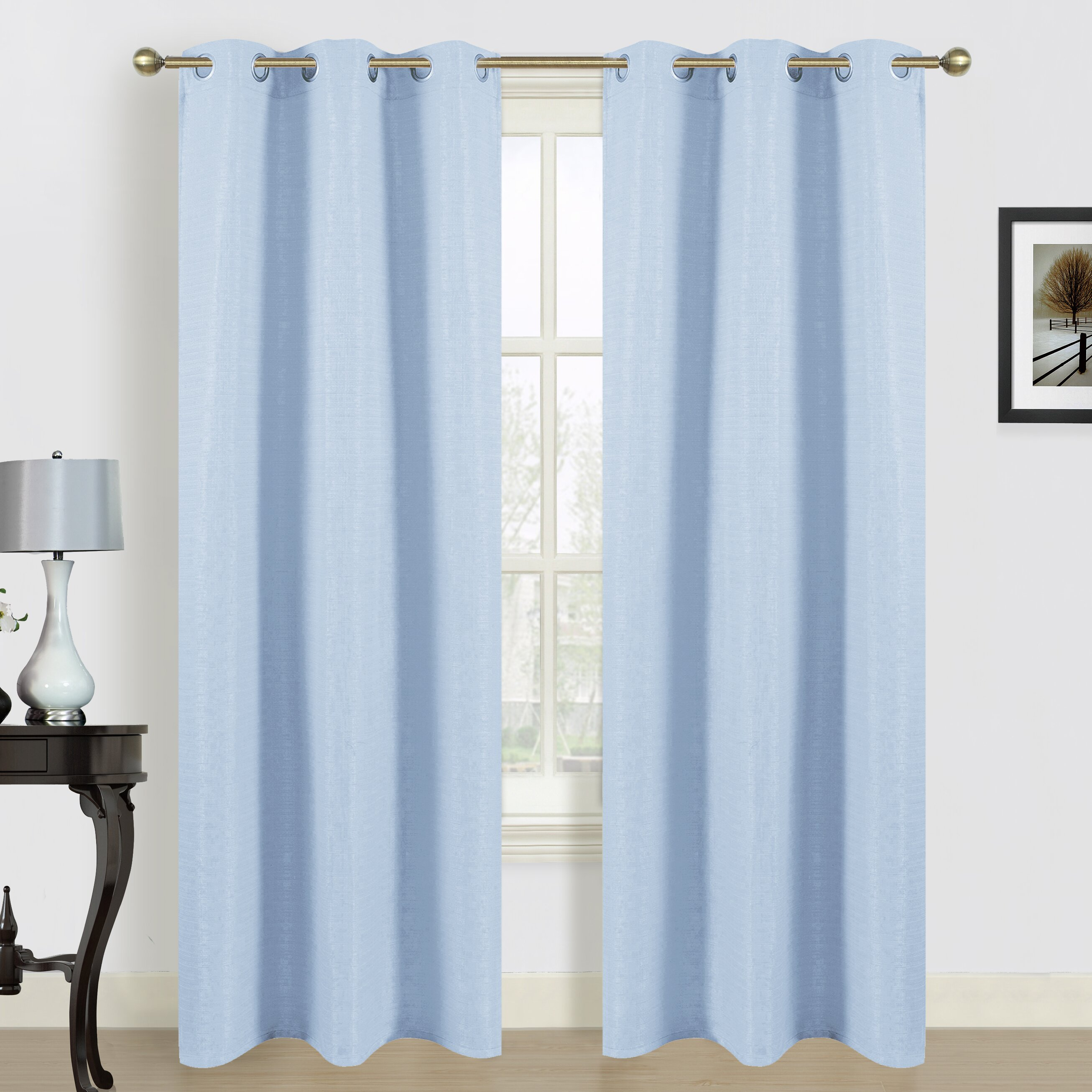Dainty Home Blended Curtain Panel Reviews Wayfair