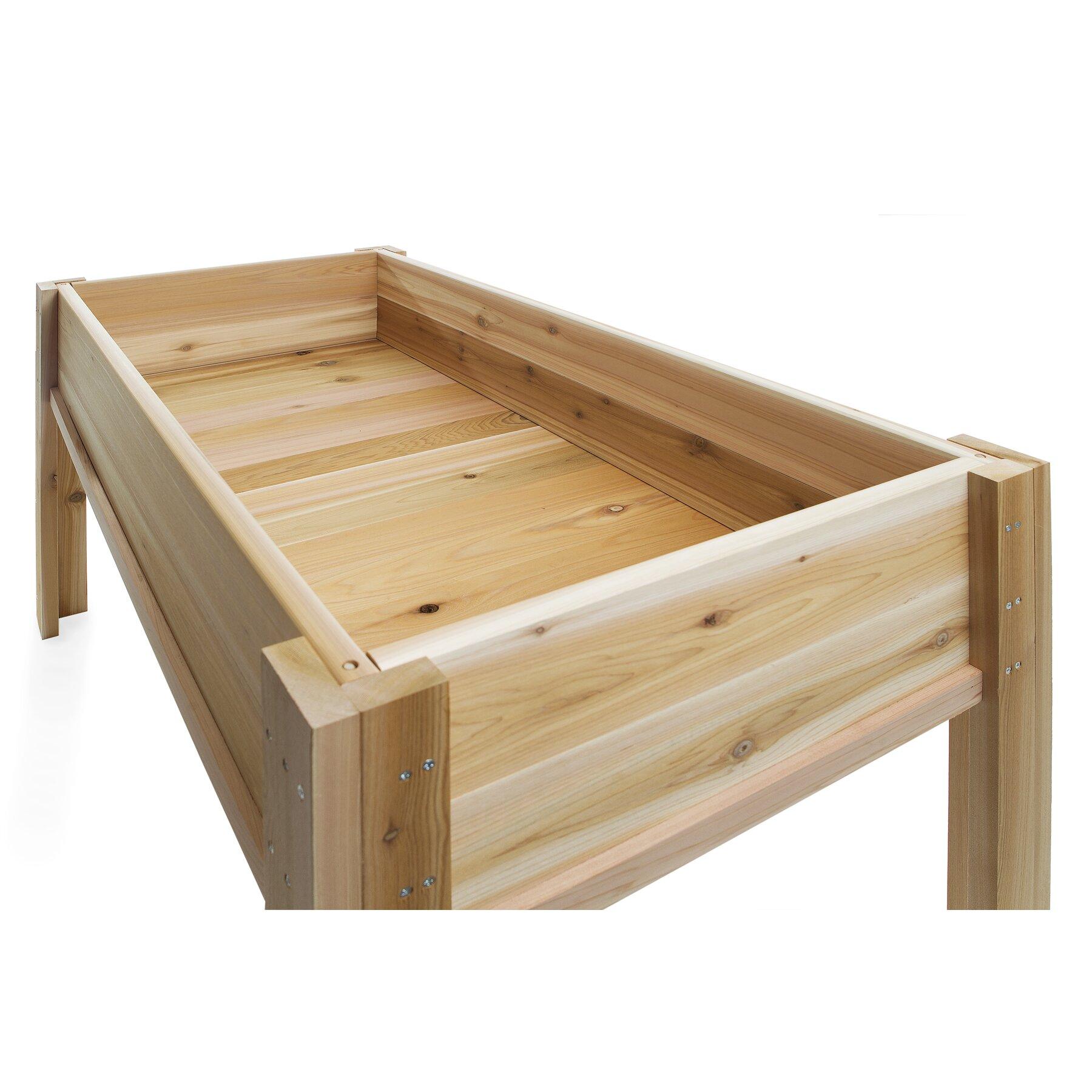 4 Ft Raised Garden Box With Legs Wayfair