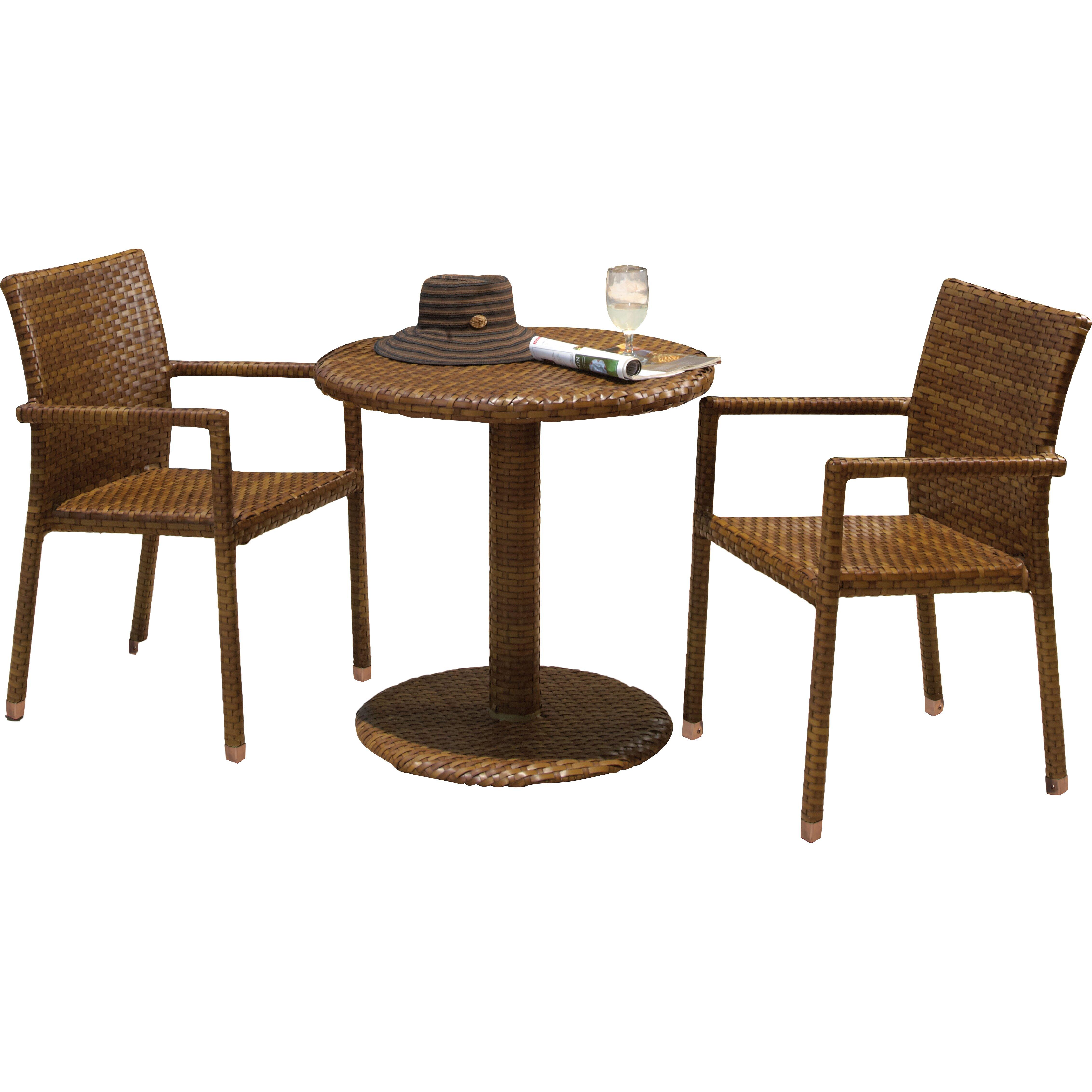 st barths 3 piece bistro dining set wayfair. Black Bedroom Furniture Sets. Home Design Ideas