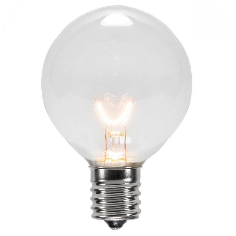 7w 130 volt light bulb pack of 25 by wintergreen lighting. Black Bedroom Furniture Sets. Home Design Ideas