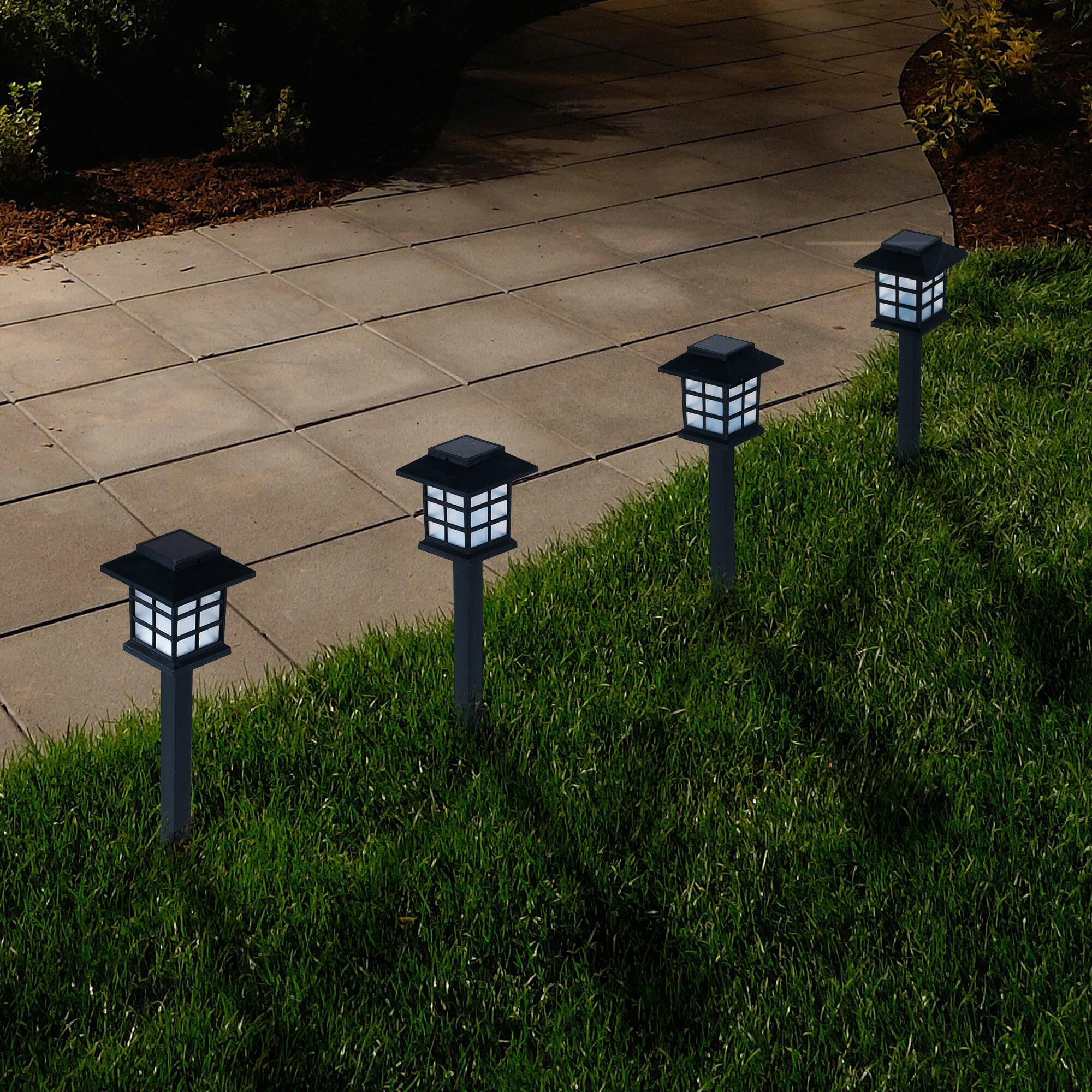 Pure Garden LED Pathway Lighting & Reviews