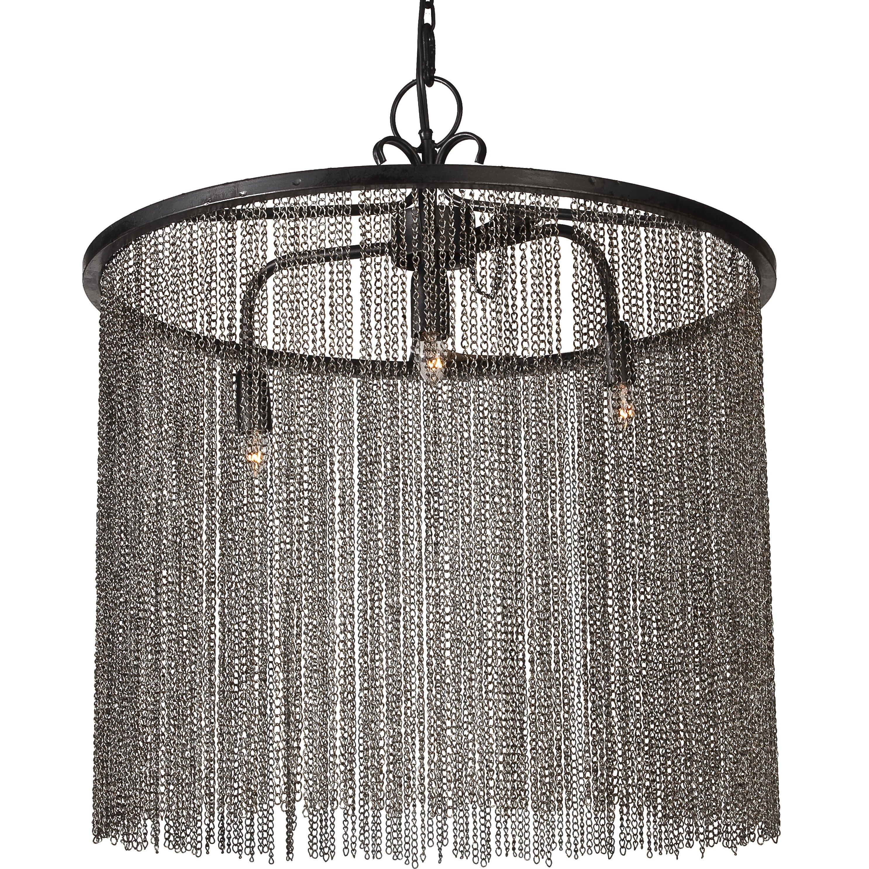 donny osmond 3 light drum chandelier reviews wayfair