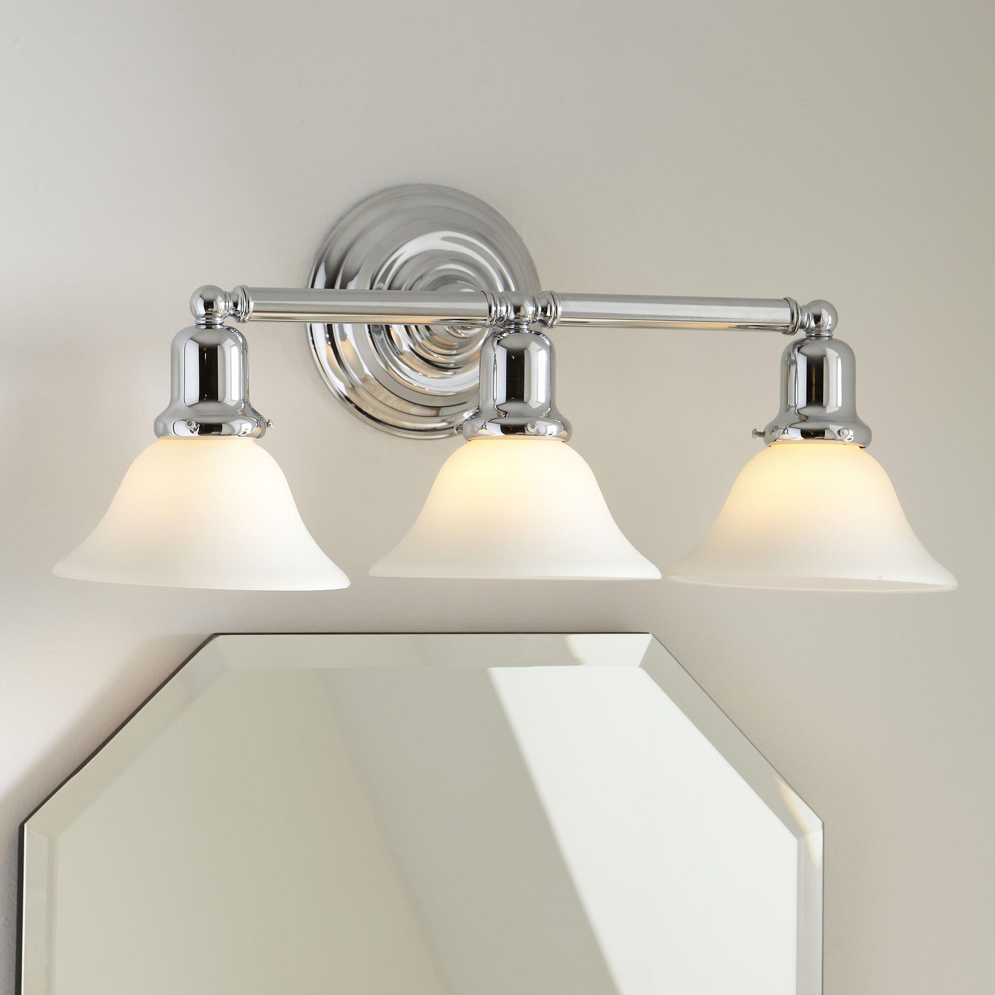 Vanity Light Bulb Covers : Birch Lane Arlington 3-Bulb Vanity Light & Reviews Wayfair