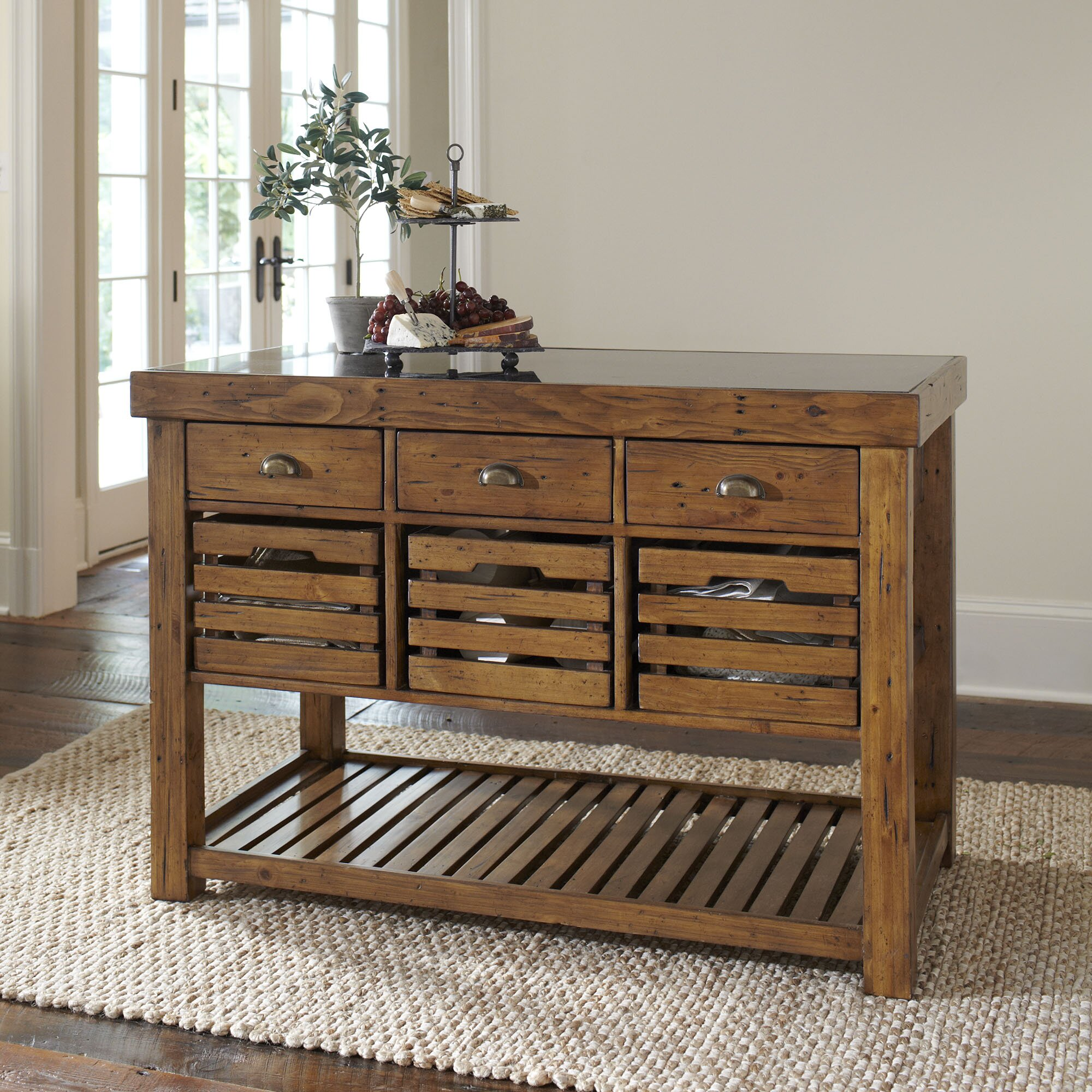 Birch Lane William Kitchen Island u0026 Reviews : Wayfair